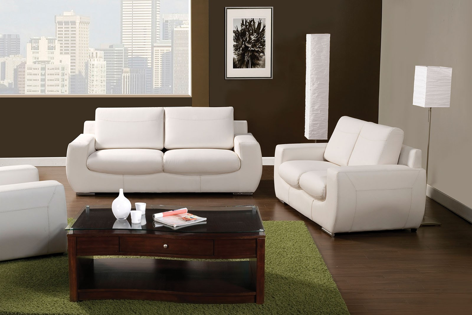 Tekir white living room set sm6032 sf furniture of america for White living room set