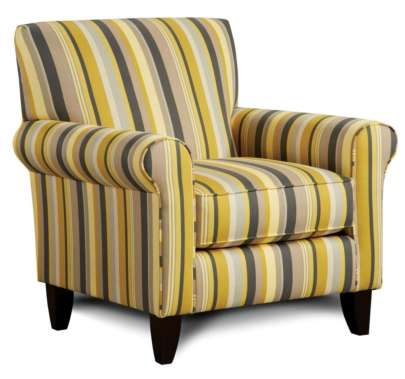 Fitzgerald Striped Pattern Chair From Furniture Of America Sm8490 Ch Eg Coleman Furniture