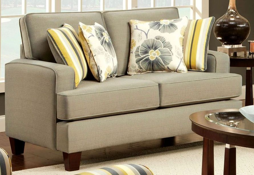 Fitzgerald Gray Loveseat From Furniture Of America Sm8490 Lv Coleman Furniture