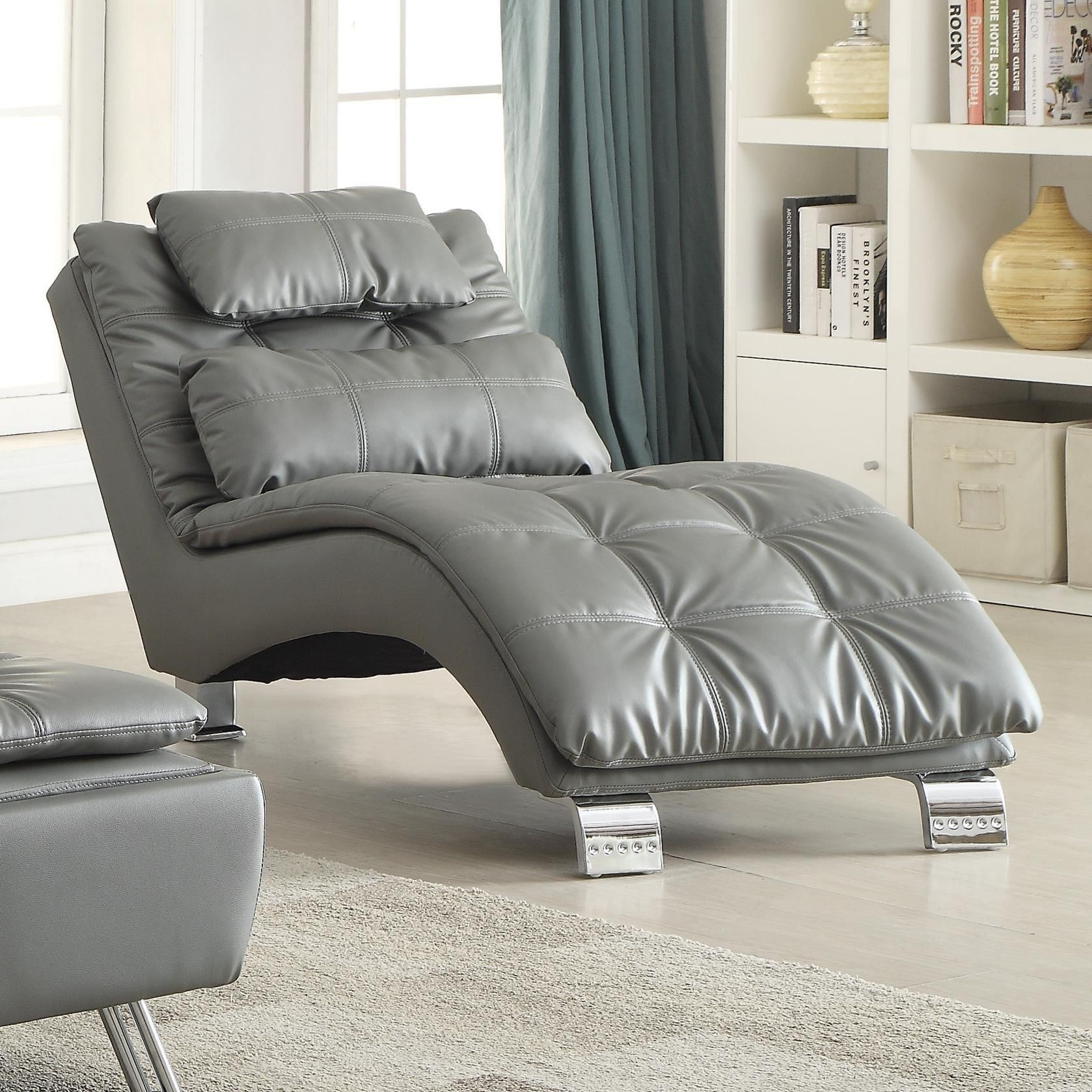 Dilleston Armless Living Room Chaise From Coaster 550029 Coleman Furniture