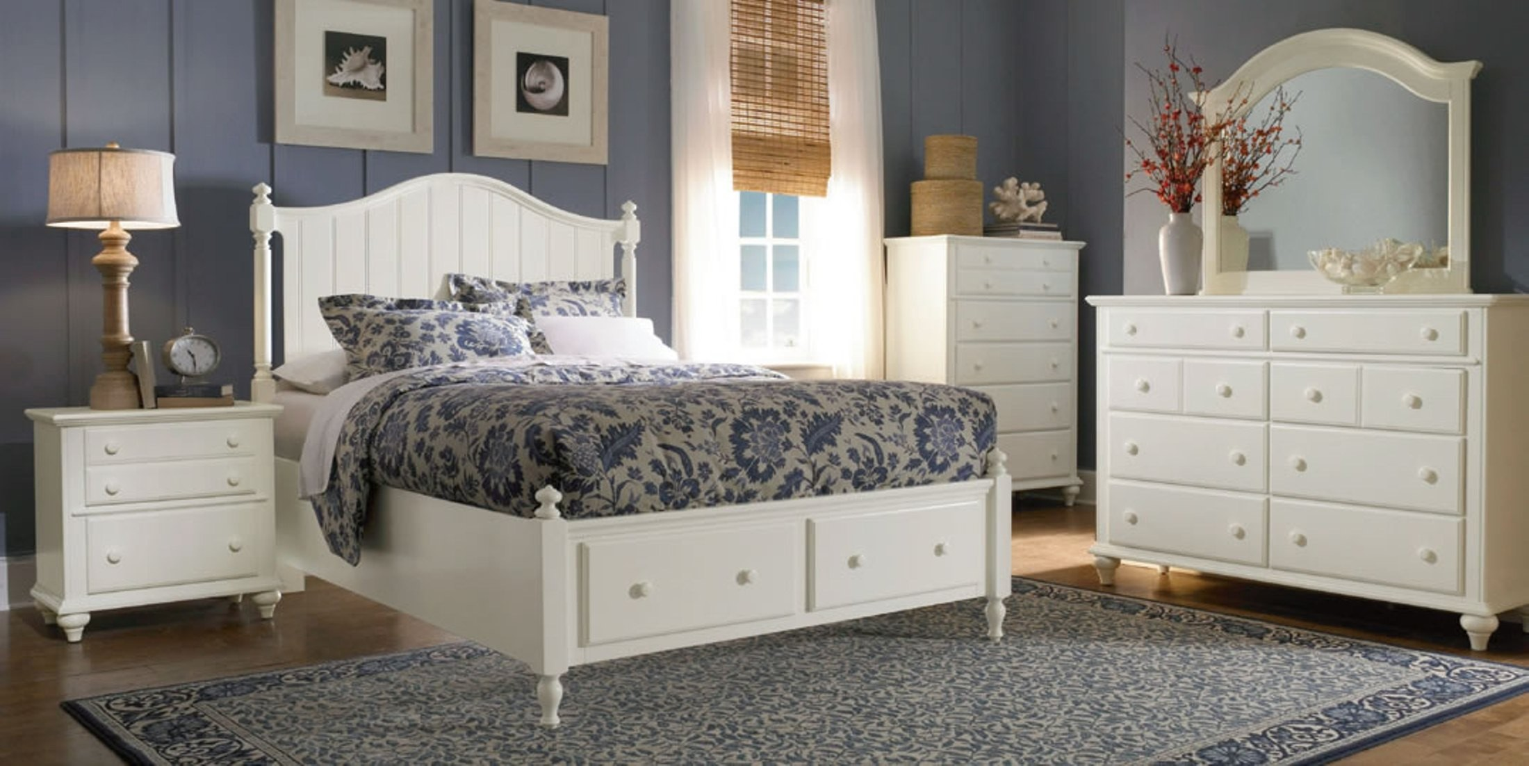 Hayden place white panel storage bedroom set from broyhill for Places to get bedroom sets