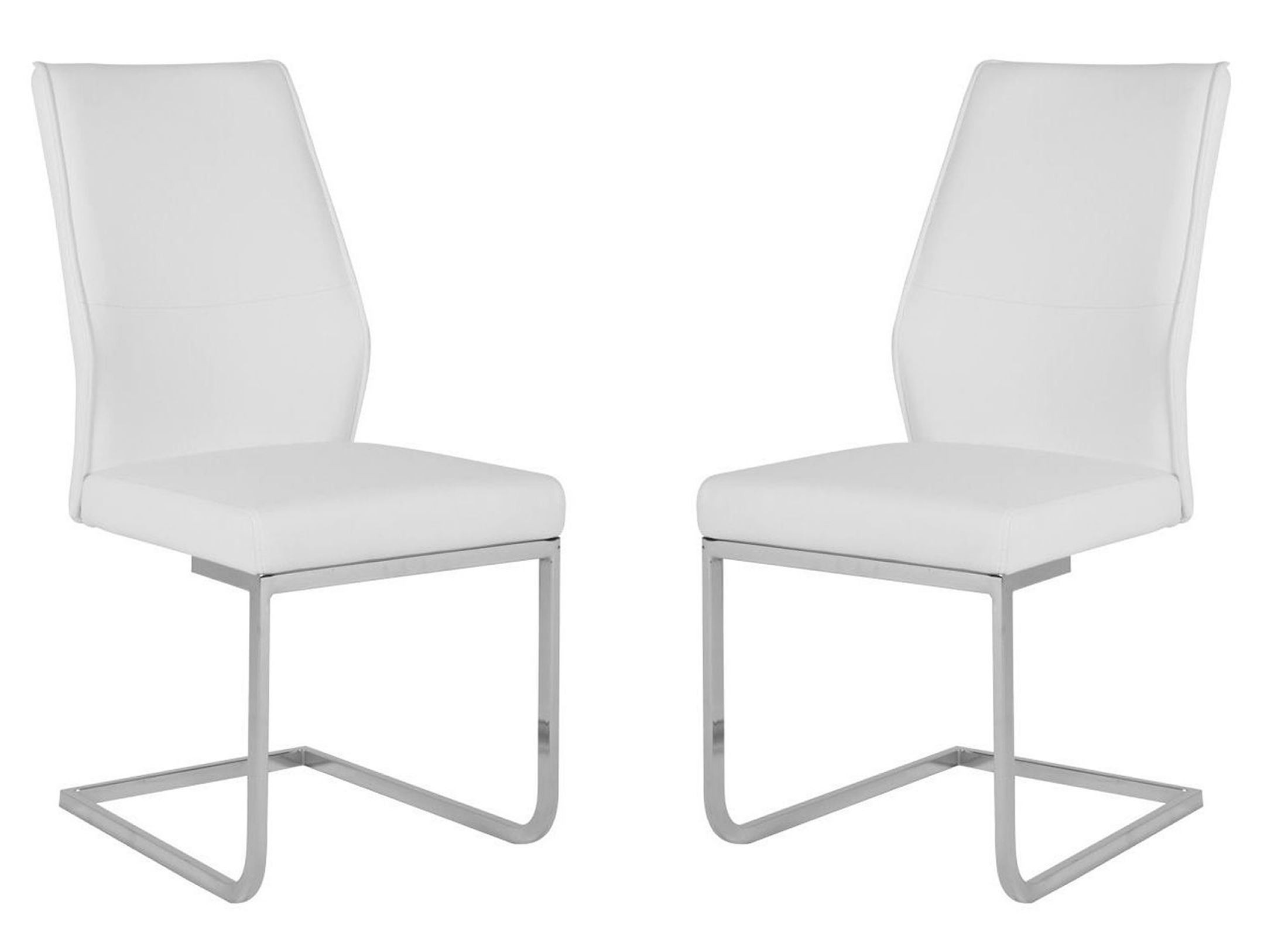 regis sydney white dining chair set of 2 from