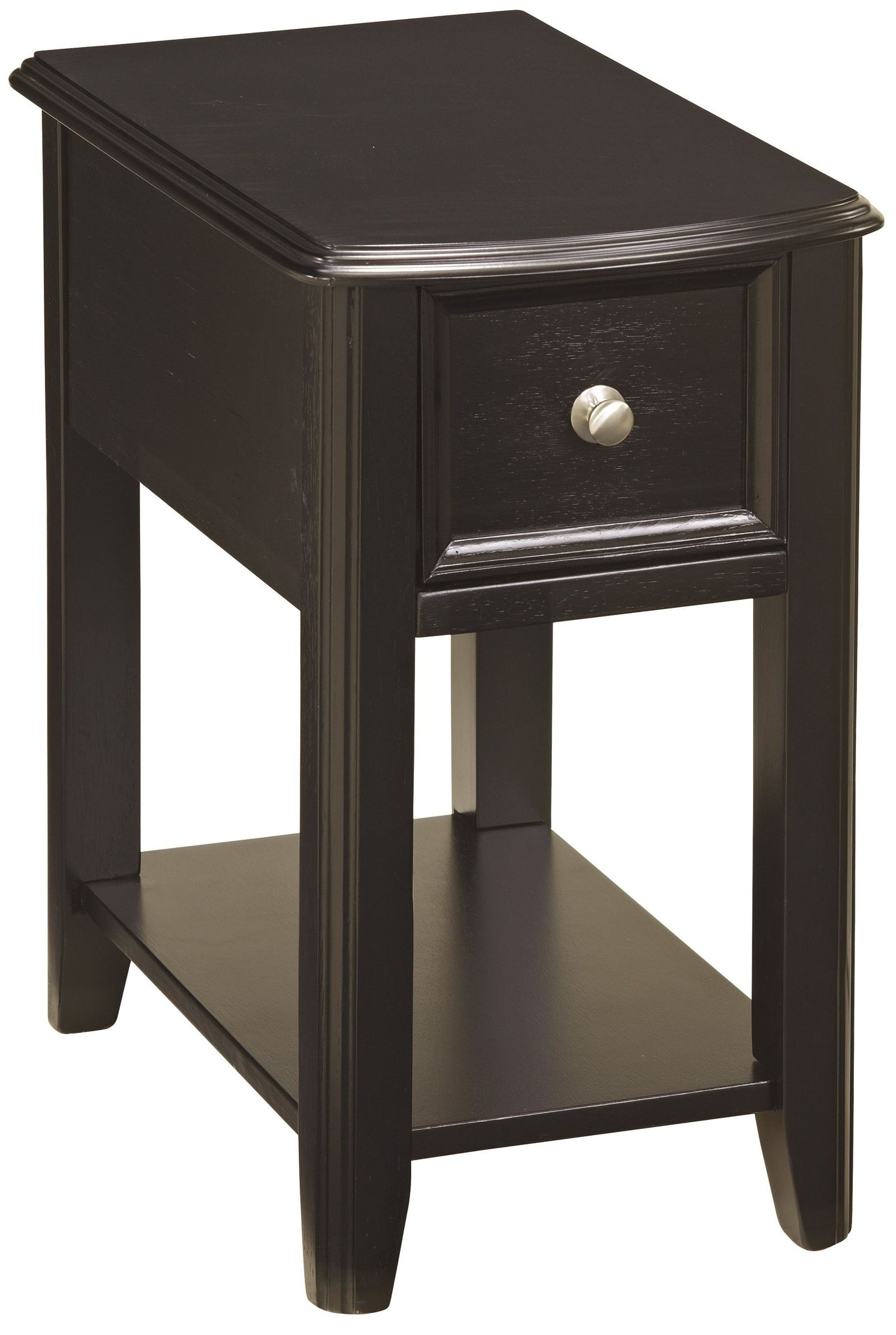 Chairside End Program Chair Side Black End Table From