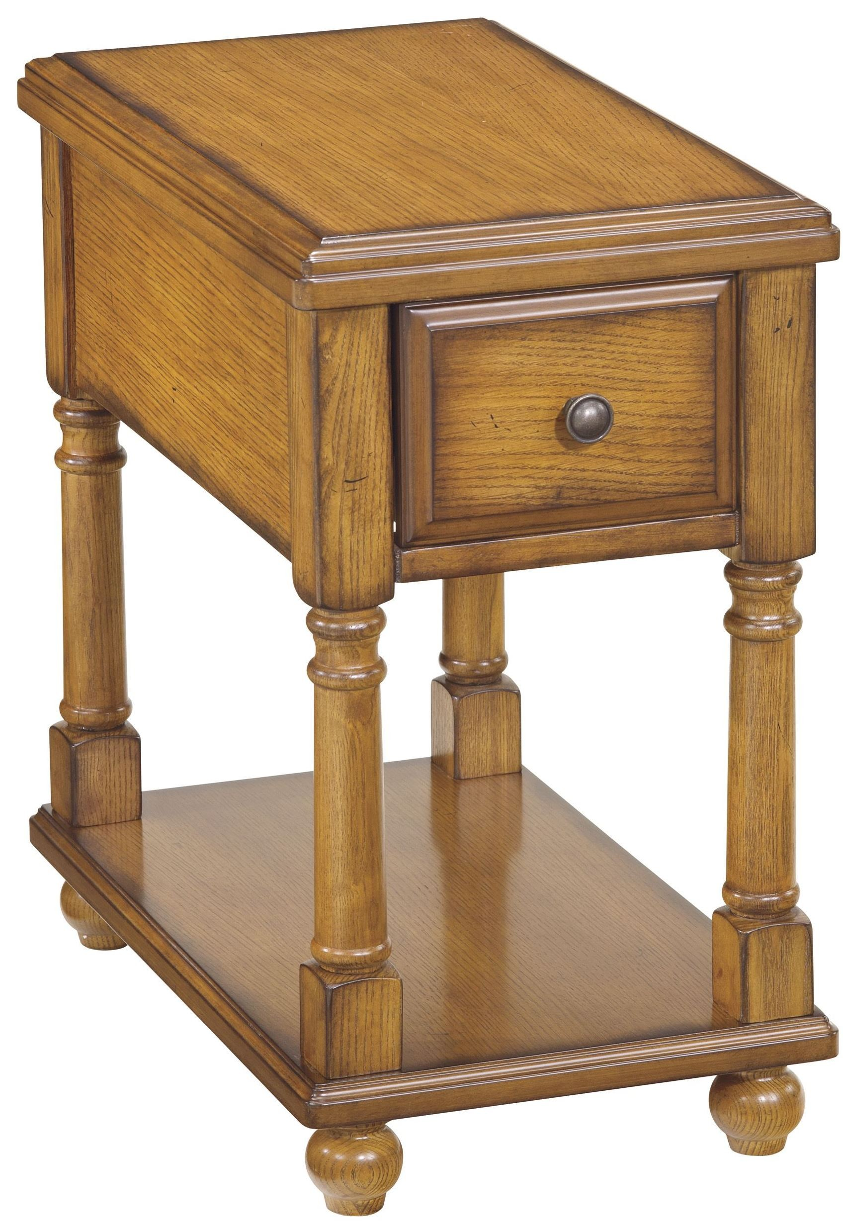 Chairside end program 1 drawer chair side end table from for Chairside table