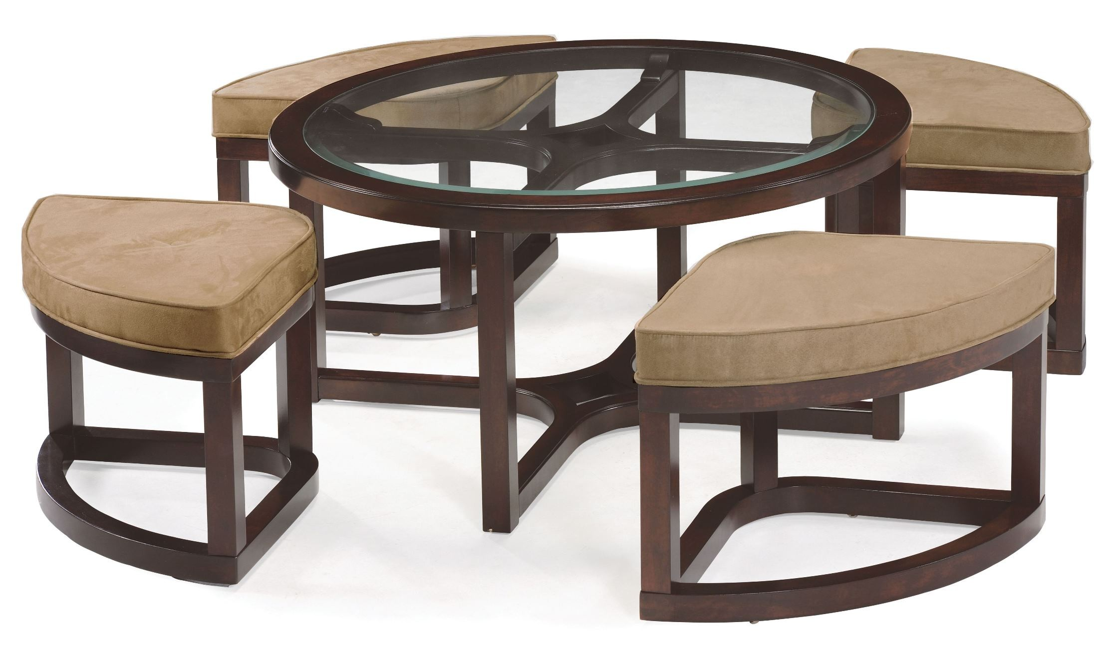 Juniper round cocktail table with 4 stools from magnussen for Round cocktail table with stools