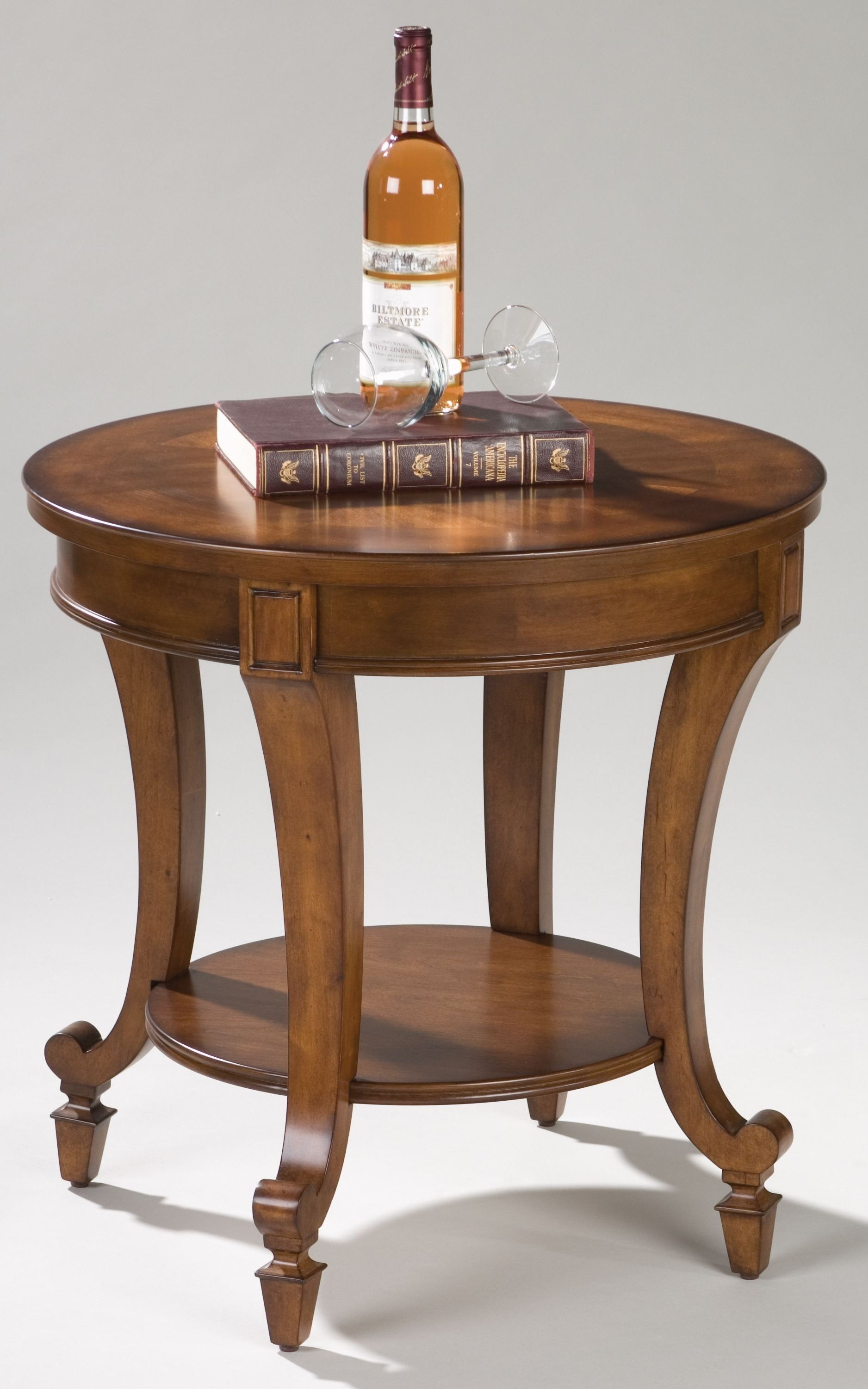aidan round end table from magnussen home t1052 05. Black Bedroom Furniture Sets. Home Design Ideas