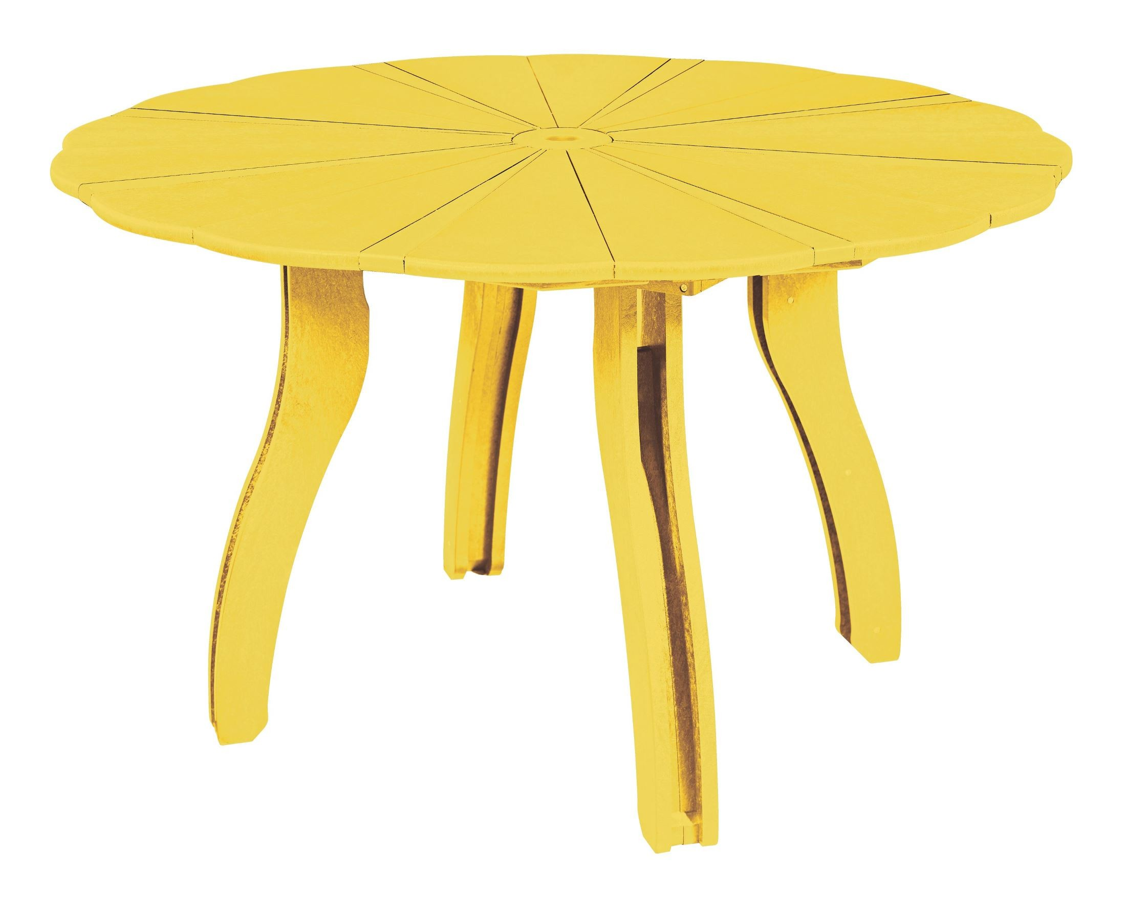 Generations Yellow 52 Scalloped Round Dining Table From