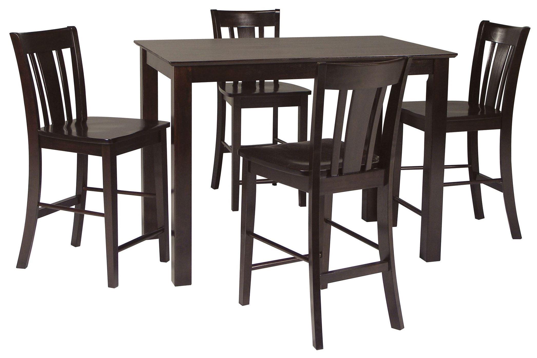 Counter Height Rectangular Dining Set : Dining Essentials Rich Mocha 48