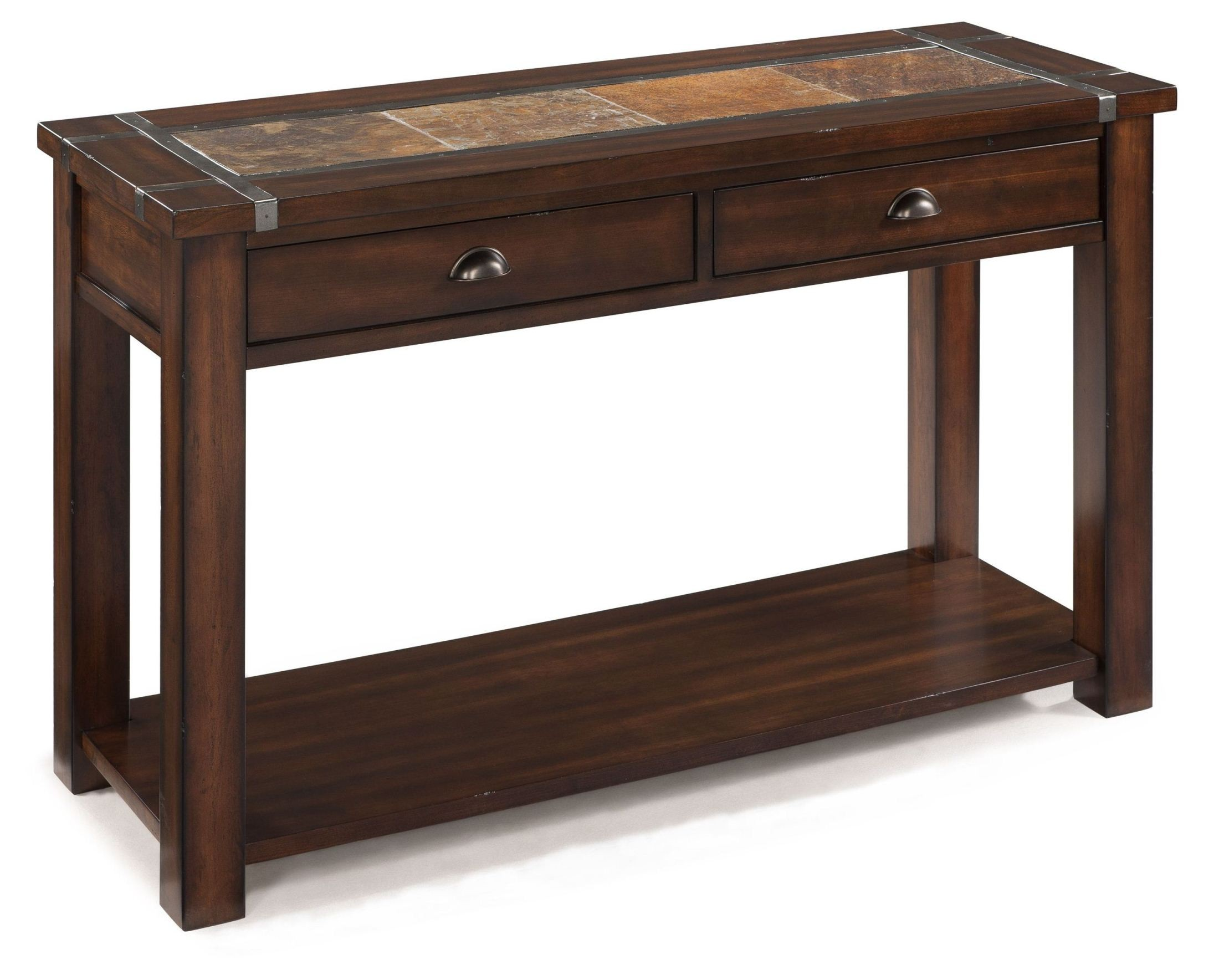 Roanoke rectangular sofa table from magnussen home t2615 for Sofa table tennis