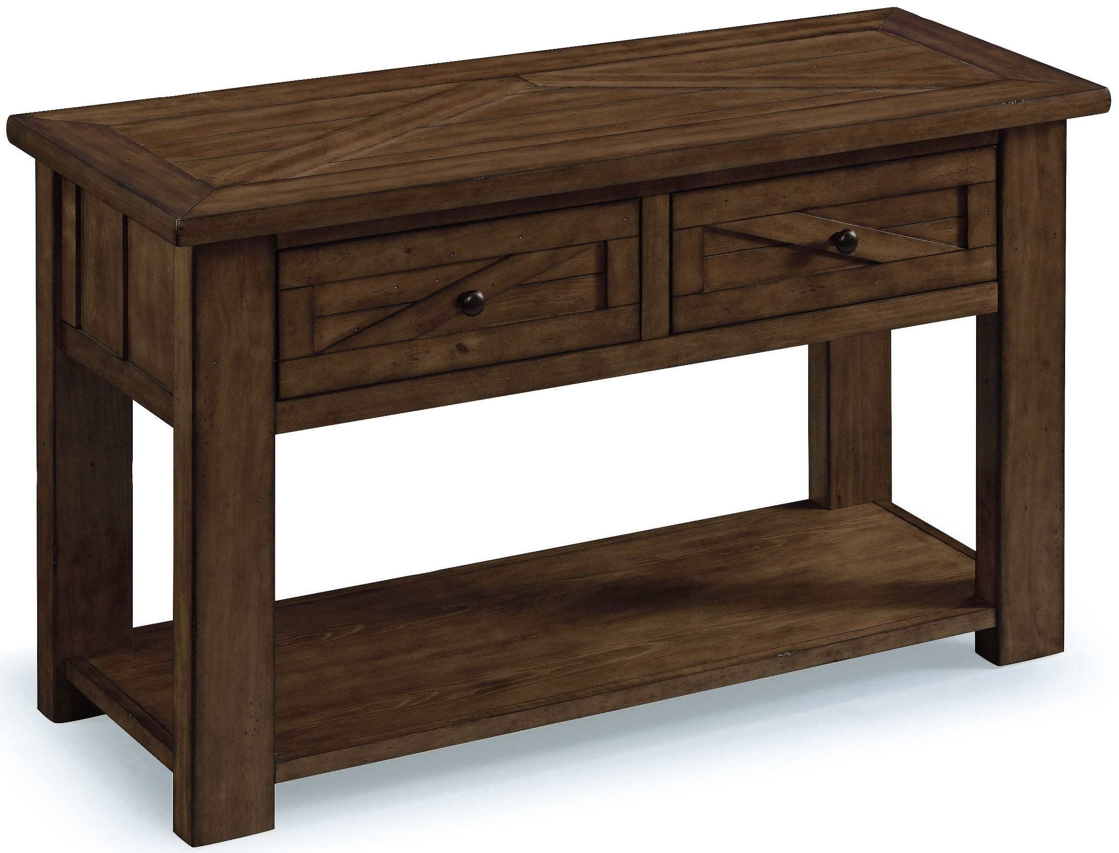 Fraser rustic pine wood rectangular sofa table t