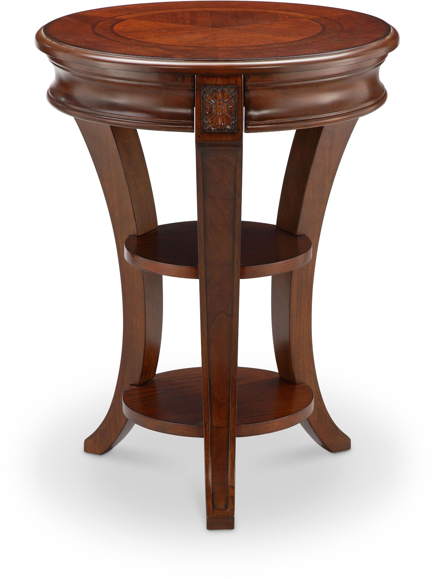 Winslet cherry round accent table t4115 35 magnussen home for Occasional tables