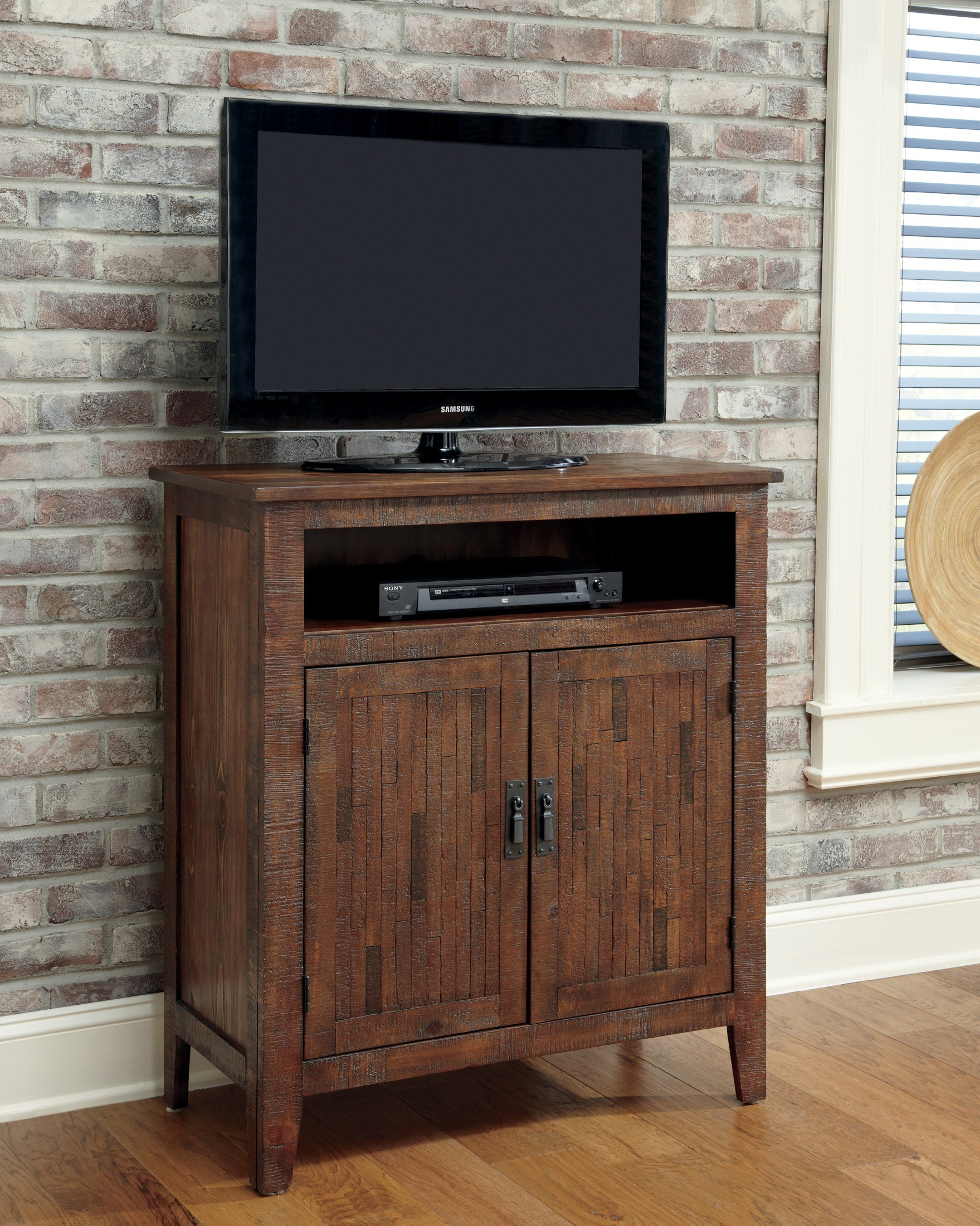 Rustic Accents Burnished Brown Accent Media Cabinet T500 442 Ashley Furniture