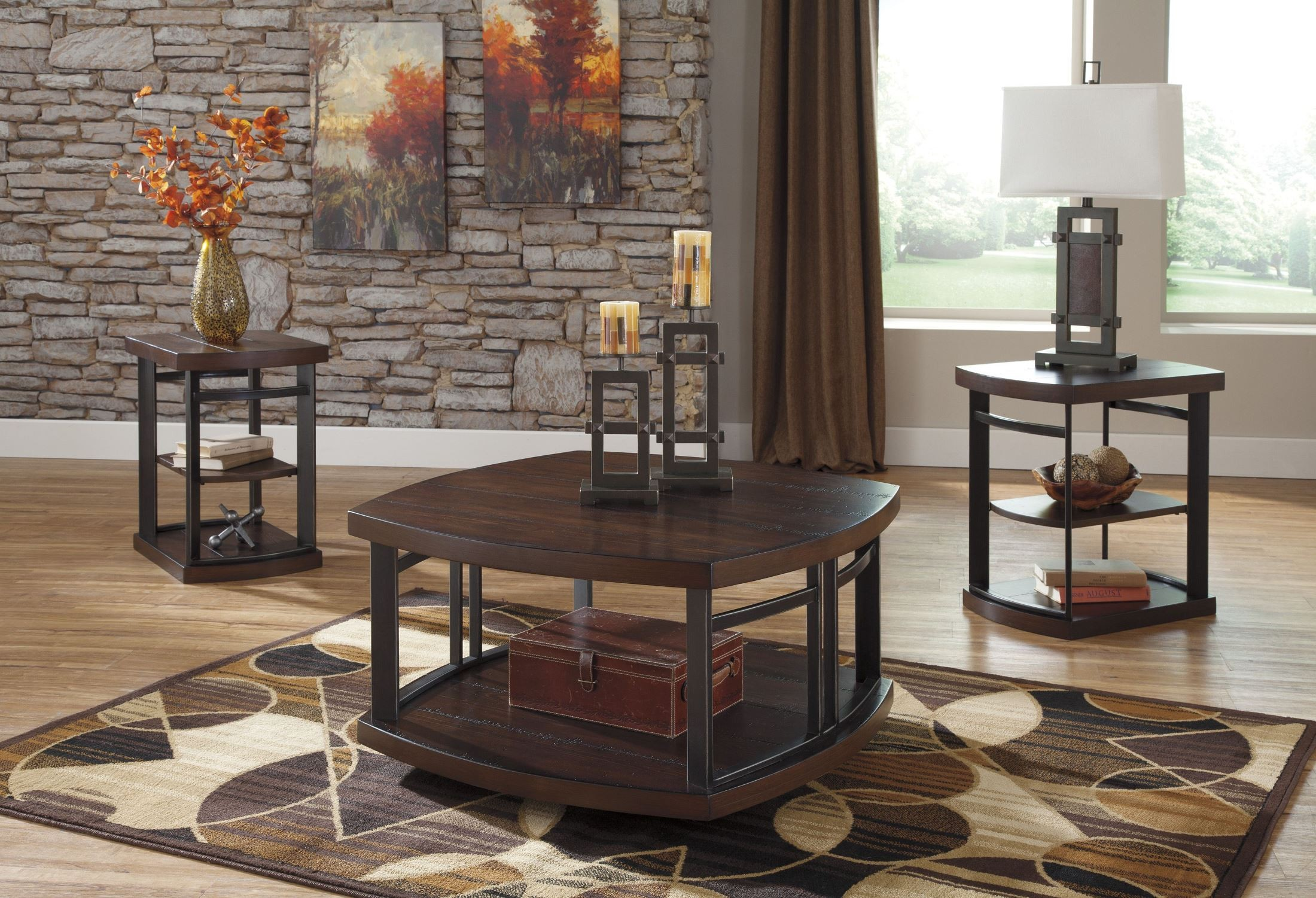 Challiman 3 in 1 occasional table set from ashley t559 13 for 13 table