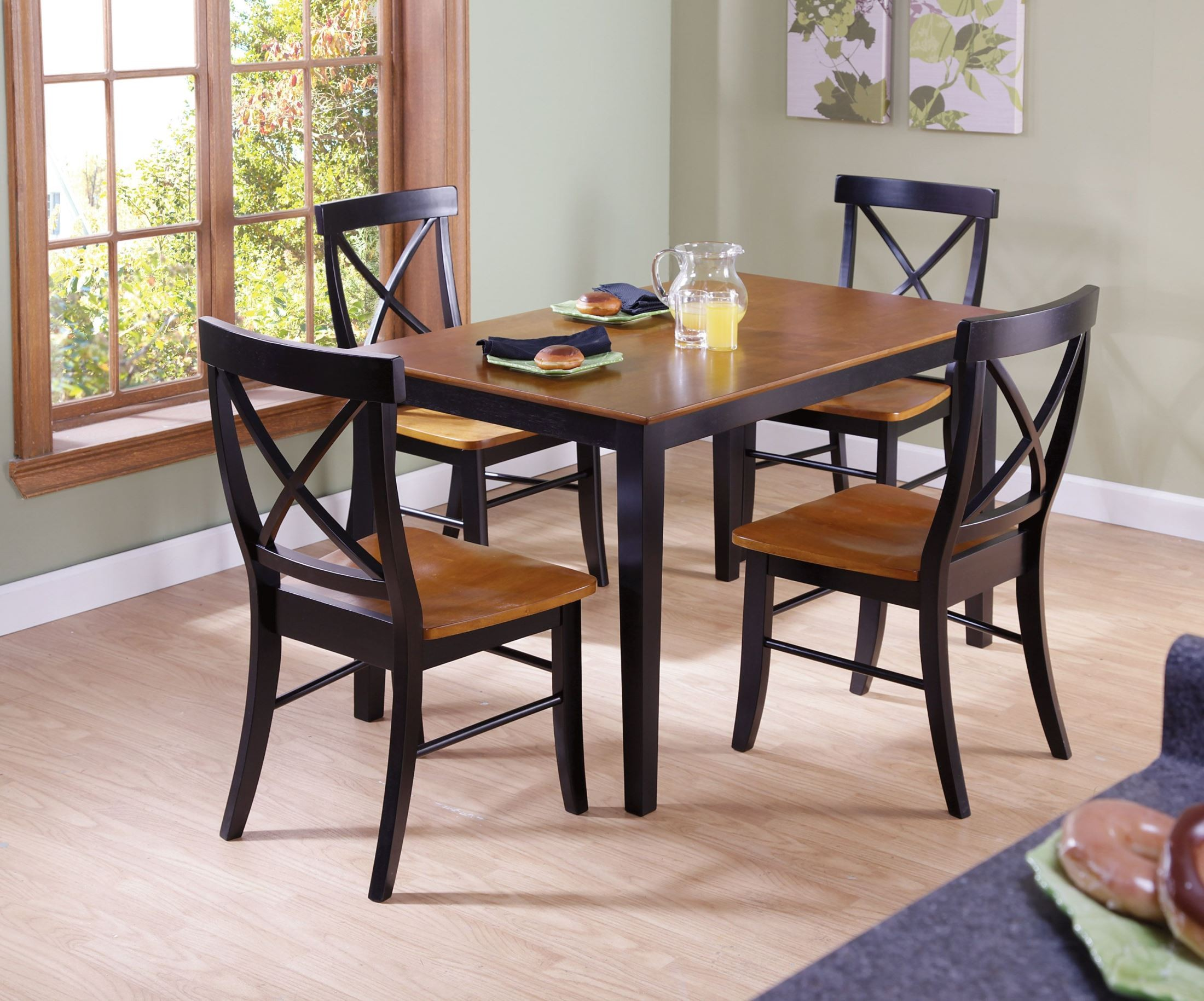 Dining Essentials Black Cherry 48 Rectangular Dining Table With