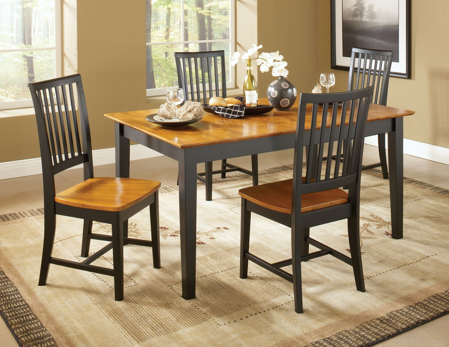 Dining Essentials Black Cherry Rectangular Dining Table T57 3660XBS