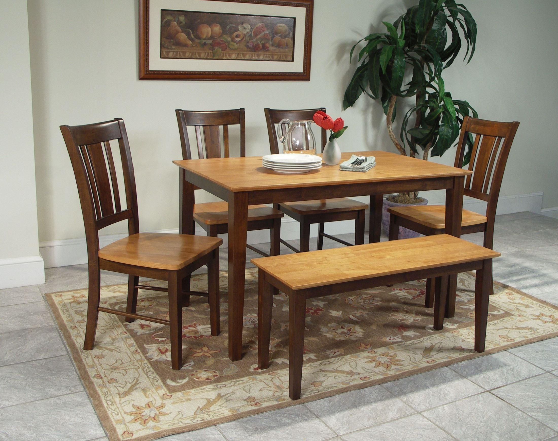 Cinnamon Espresso 48 Rectangular Dining Room Set With Shaker Legs