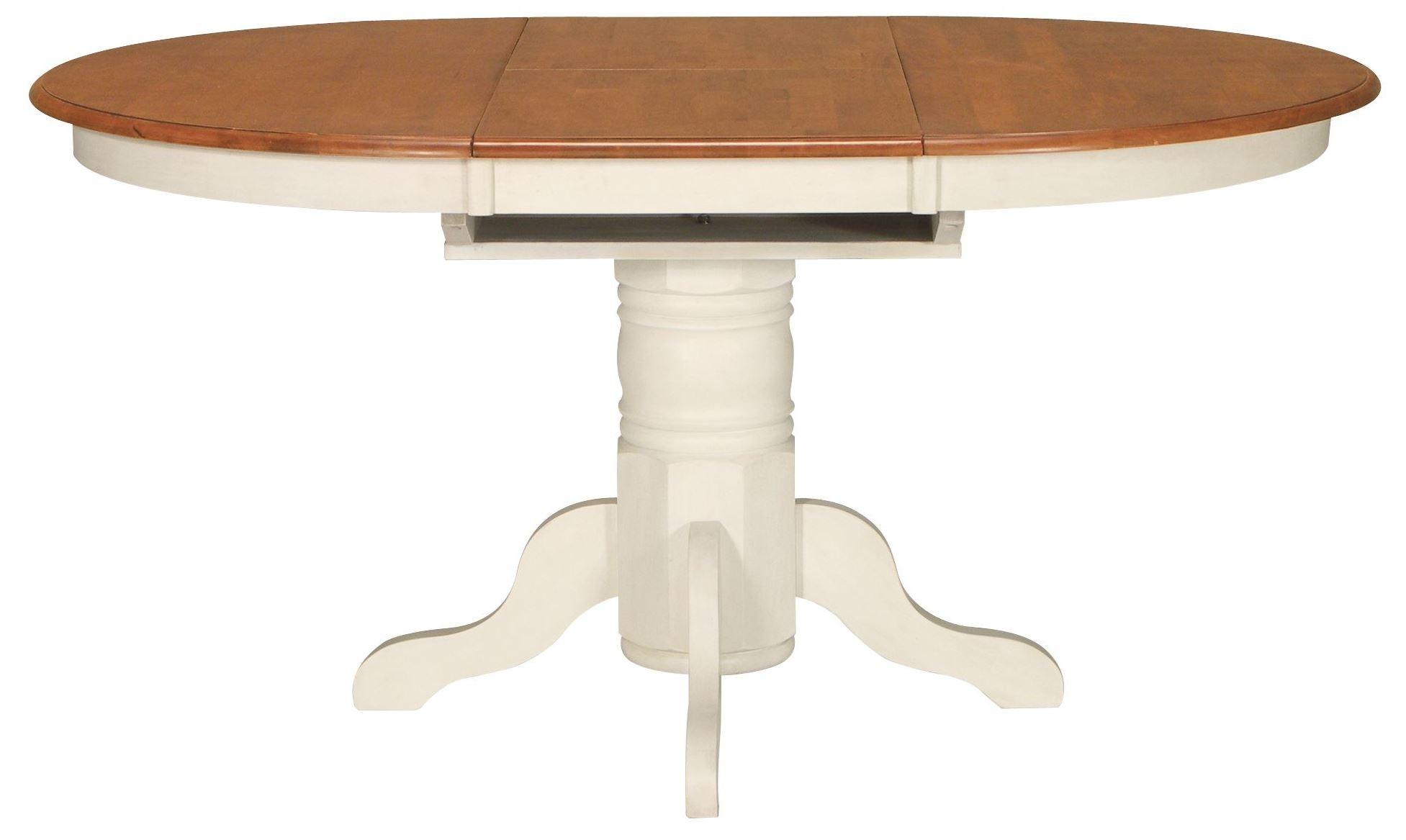 Madison park heritage oak pearl oval butterfly extendable pedestal dining table t60 48xb 42xbt - Oak extendable dining table ...