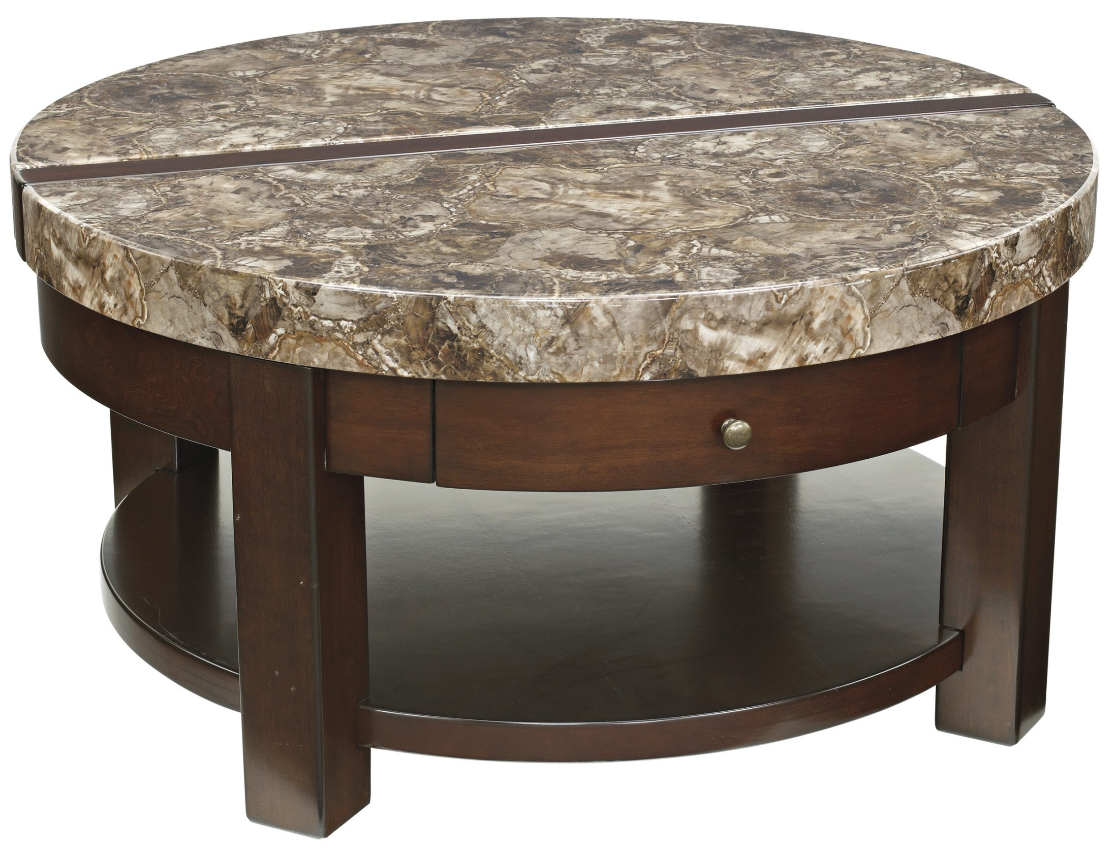 kraleene round lift top cocktail table from ashley  t687