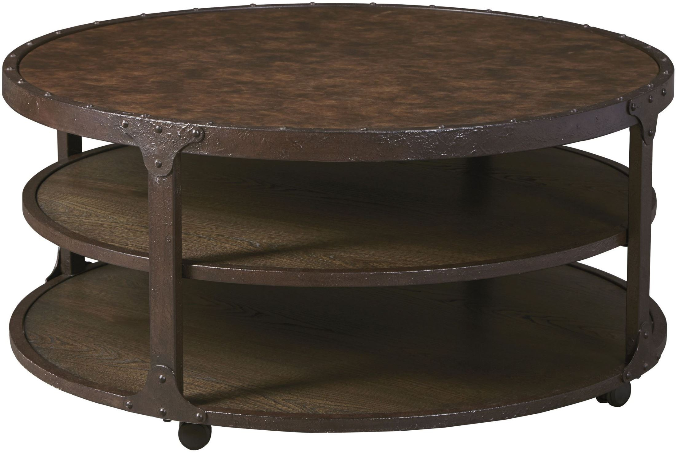 Shofern rustic brown occasional table set from ashley