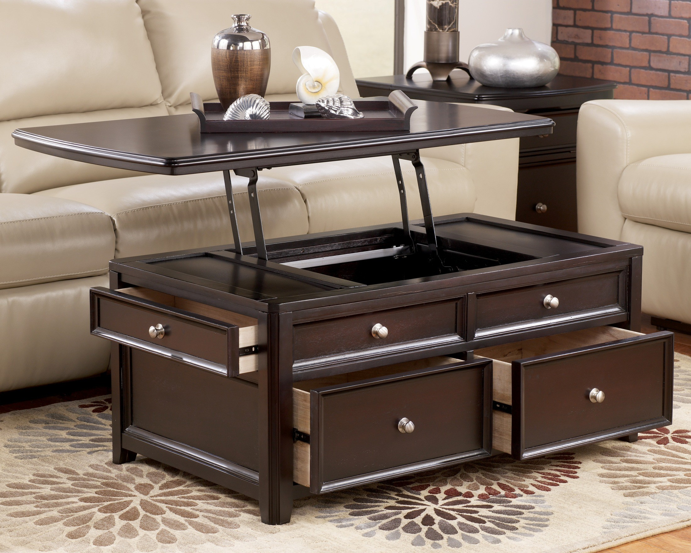 Carlyle Rectangular Lift Top Cocktail Table From Ashley T771 20 Coleman Furniture