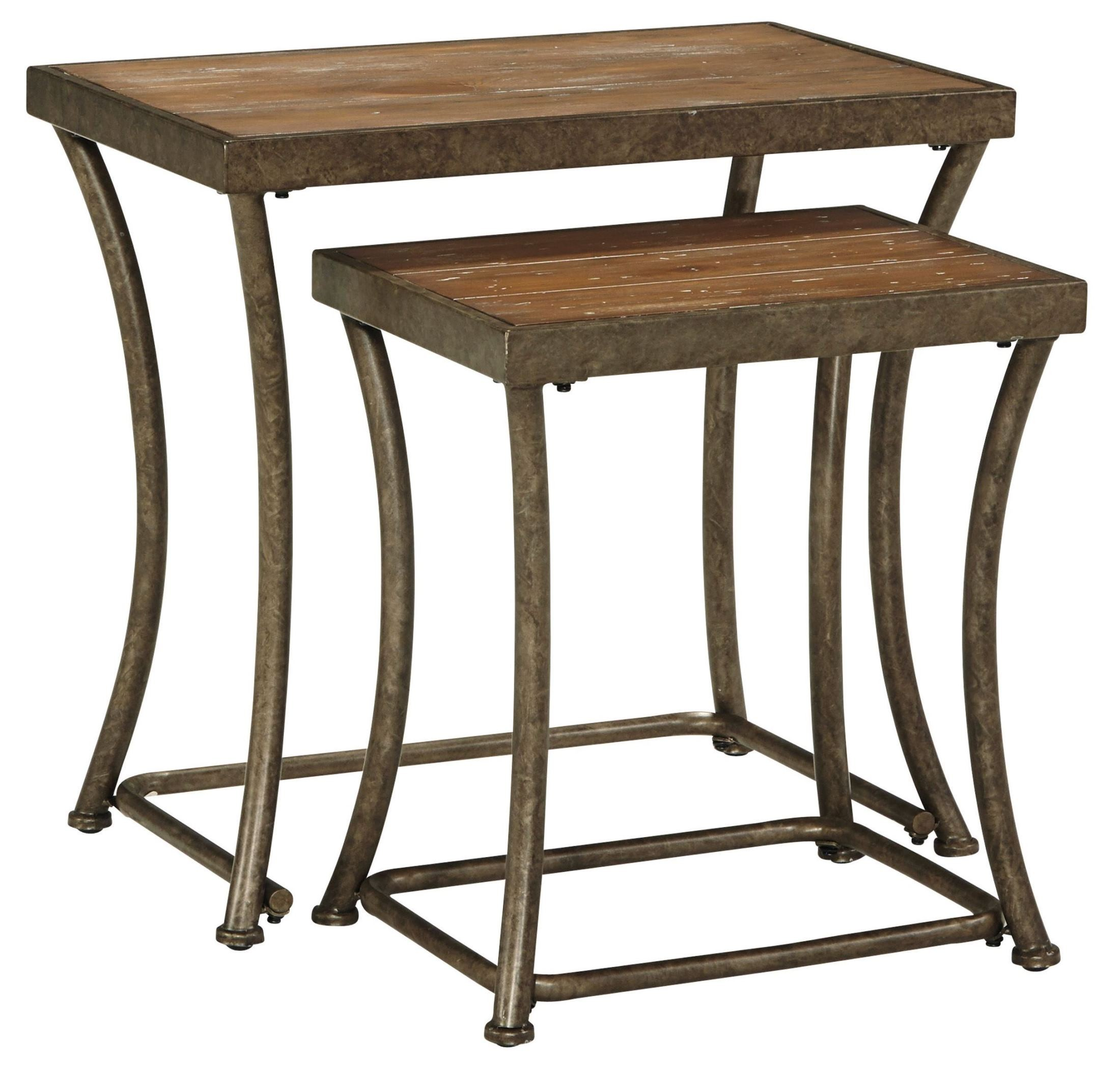 Nartina nesting end tables set of 2 from ashley t805 16 for Table 6 to 16