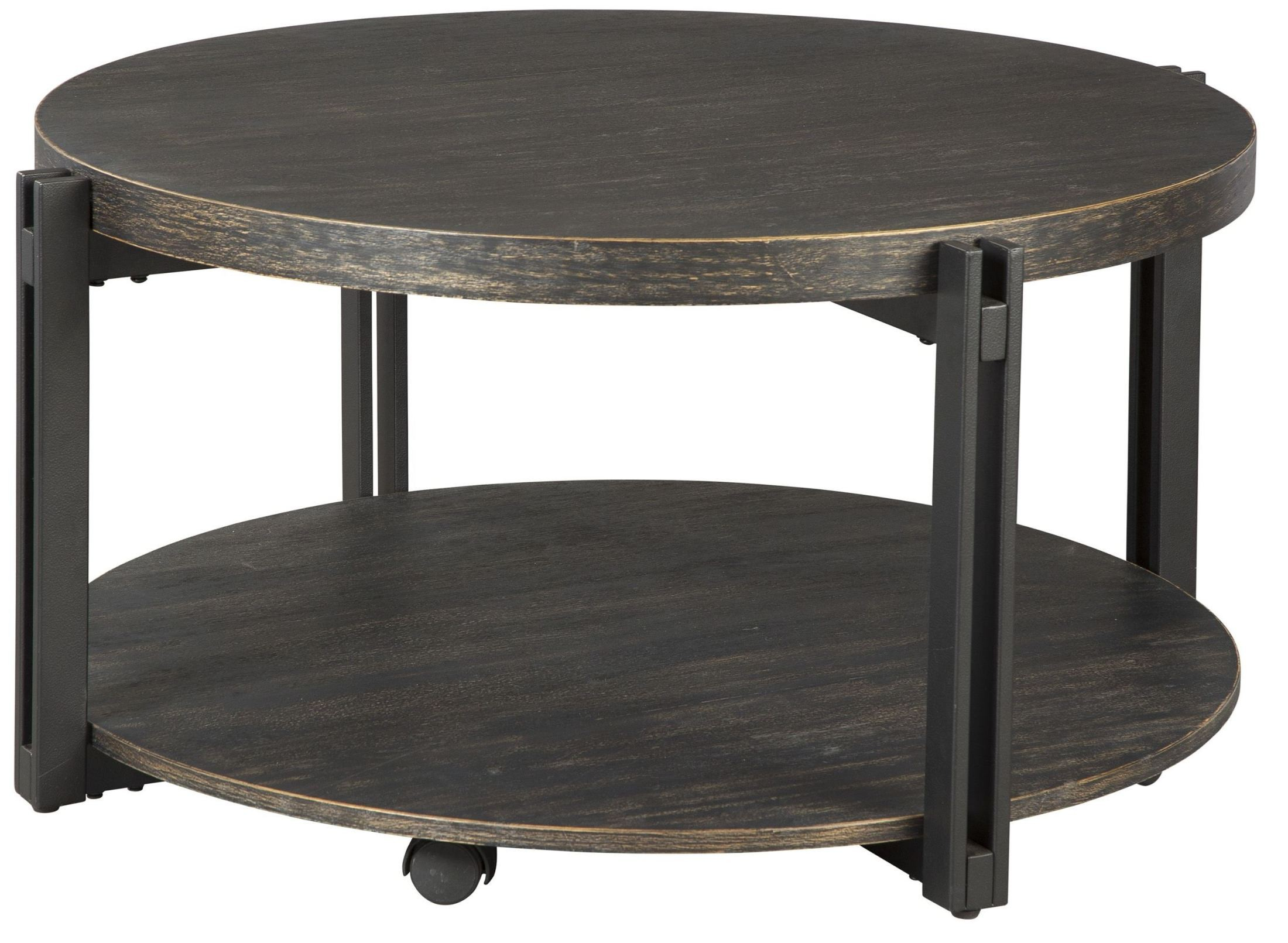 Winnieconi black round cocktail table t857 8 ashley Round cocktail table