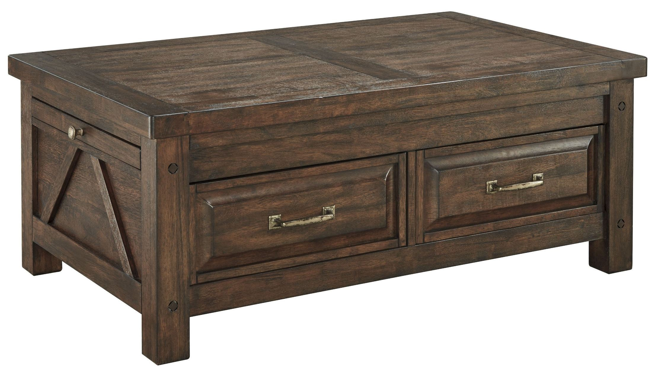 Windville Dark Brown Storage Cocktail Table T862 20 Ashley