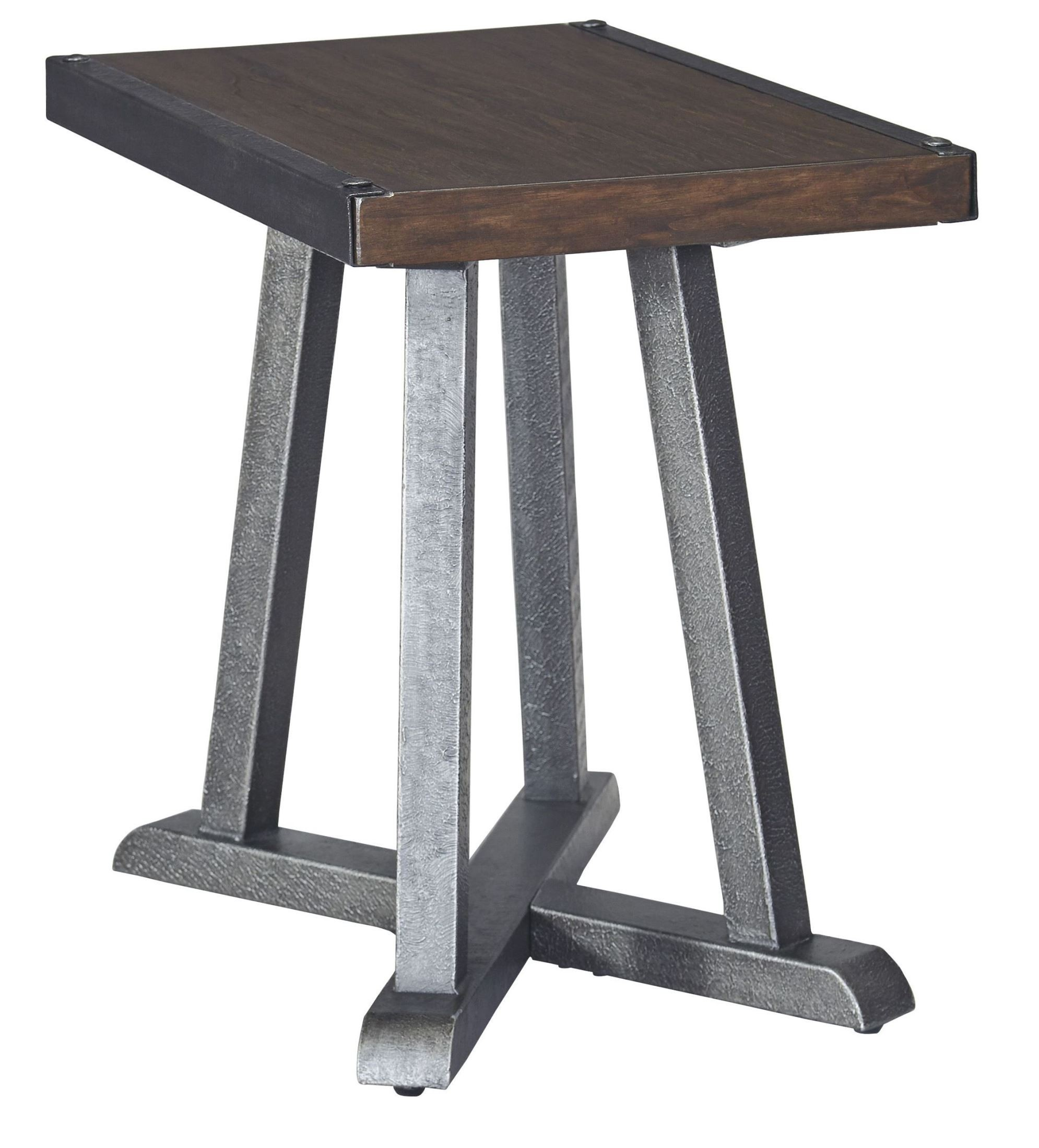 Zenfield Medium Brown Chair Side End Table From Ashley