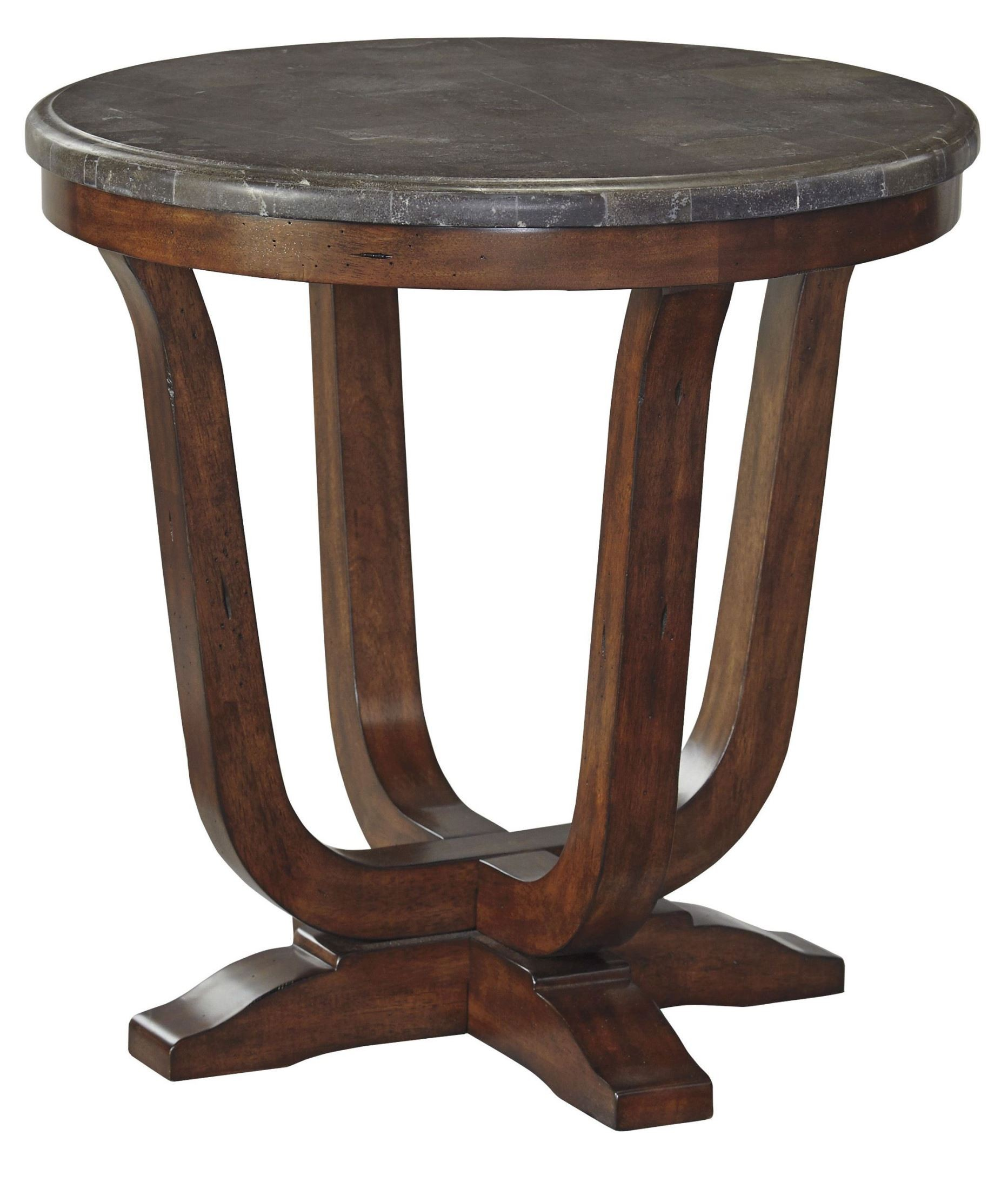 Balinder medium brown round end table from ashley t908 6 for Round end tables