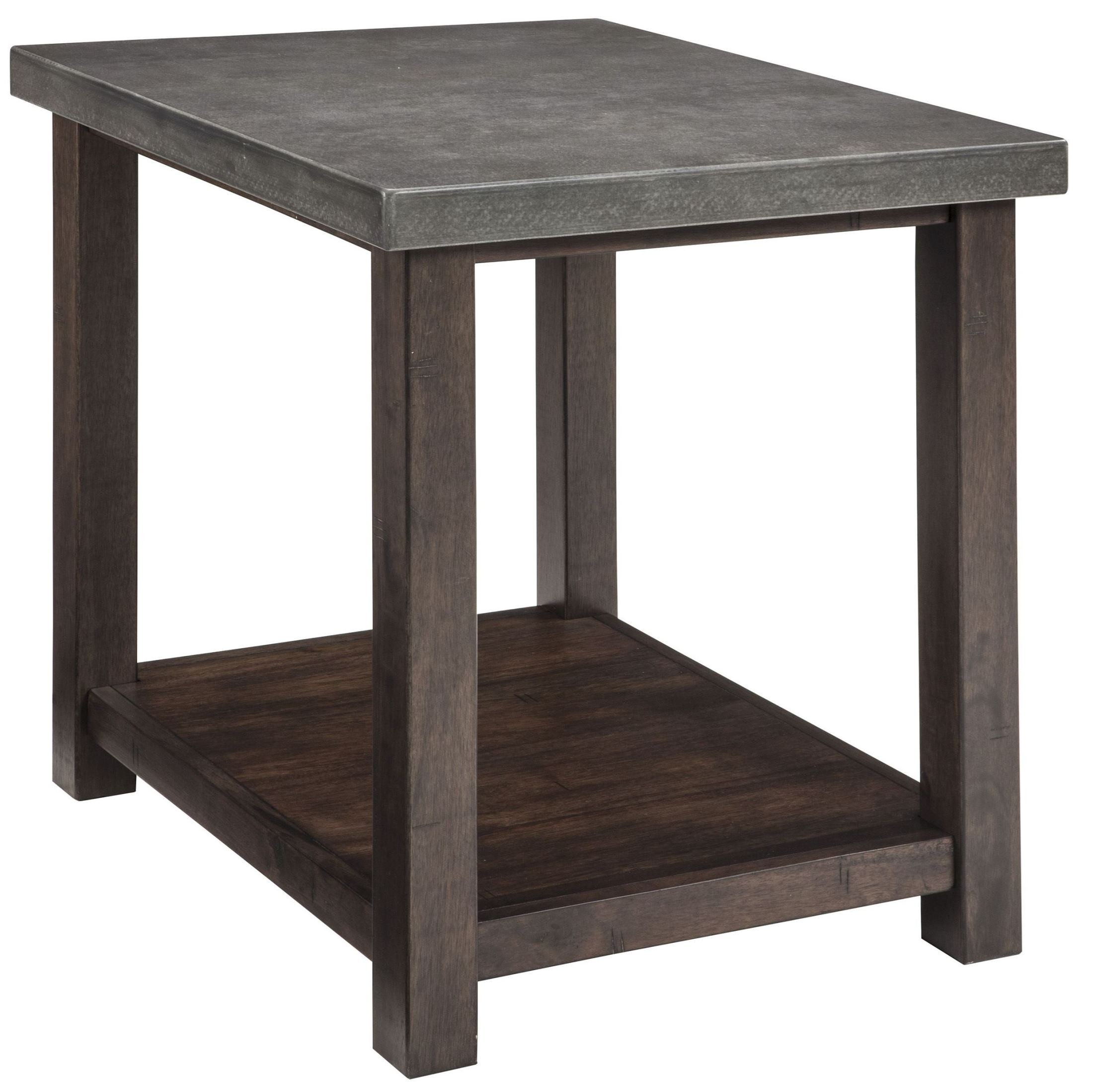 Starmore brown chairside end table t913 7 ashley for Chairside table