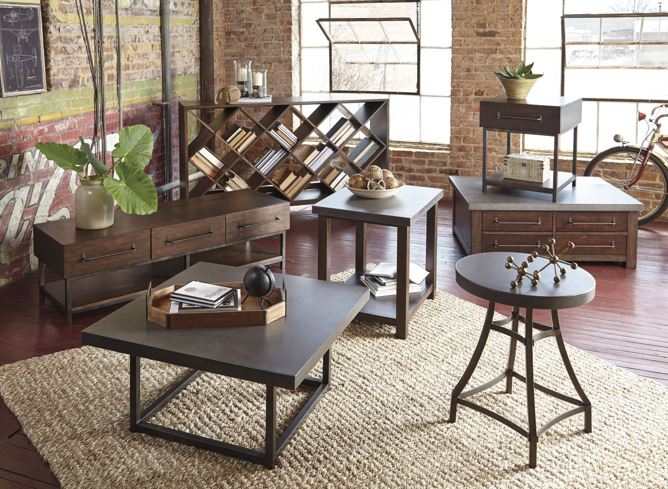 Starmore brown storage cocktail table t913 20 ashley for Starmore ashley furniture bedroom