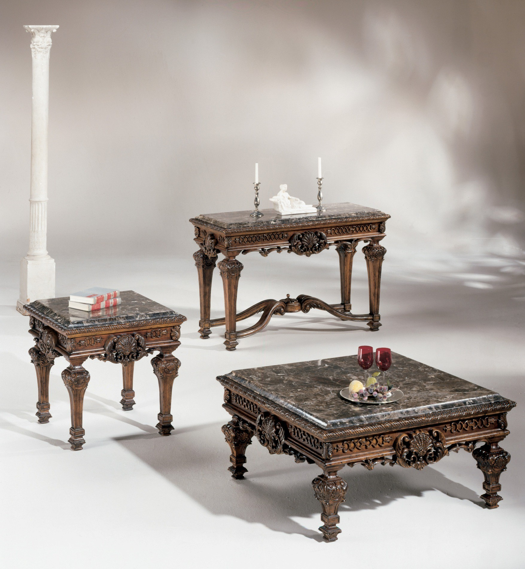 Casa mollino square occasional table set from ashley t953 for Occasional furniture