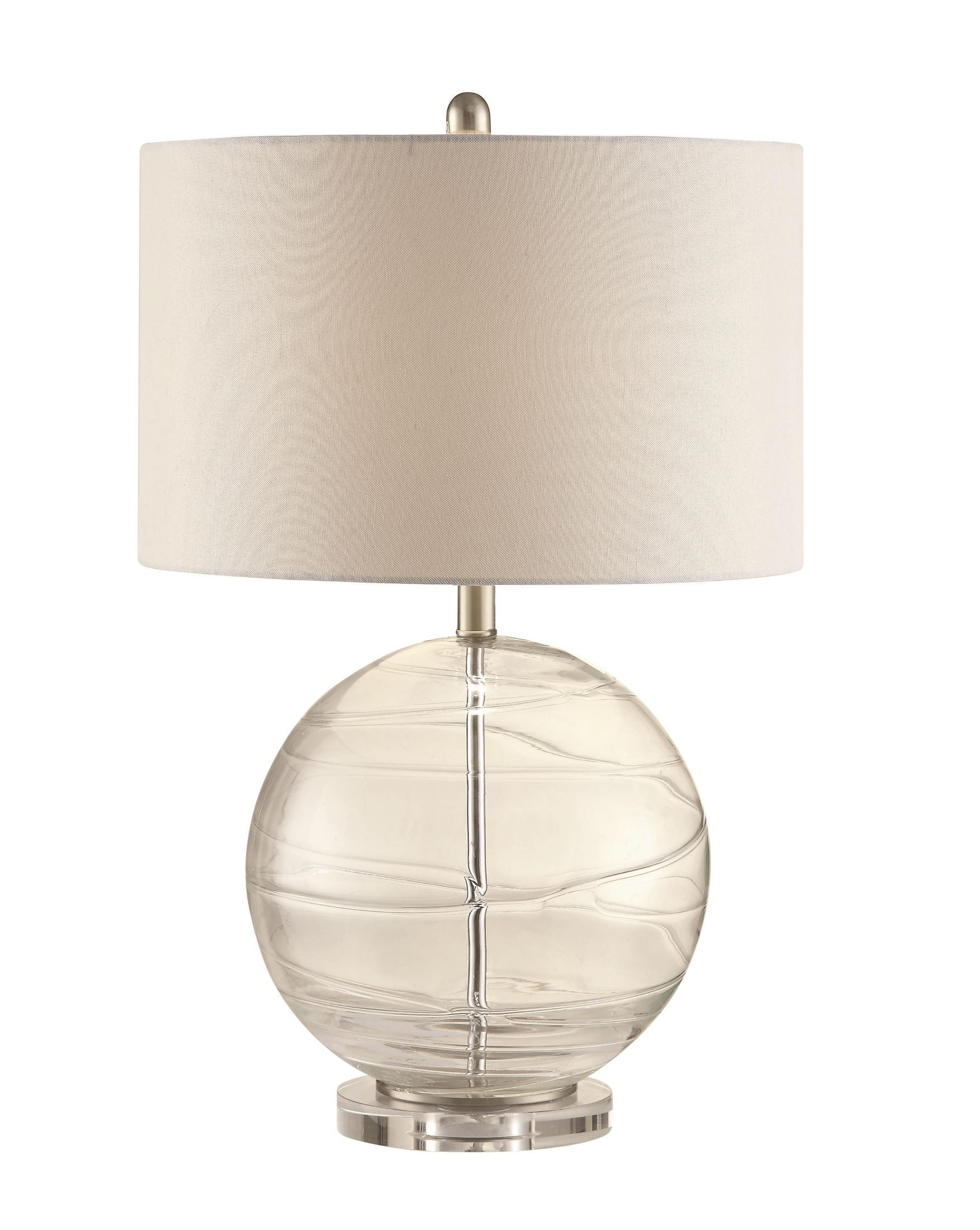 901557 clear glass globe table lamp from coaster 901557 coleman. Black Bedroom Furniture Sets. Home Design Ideas