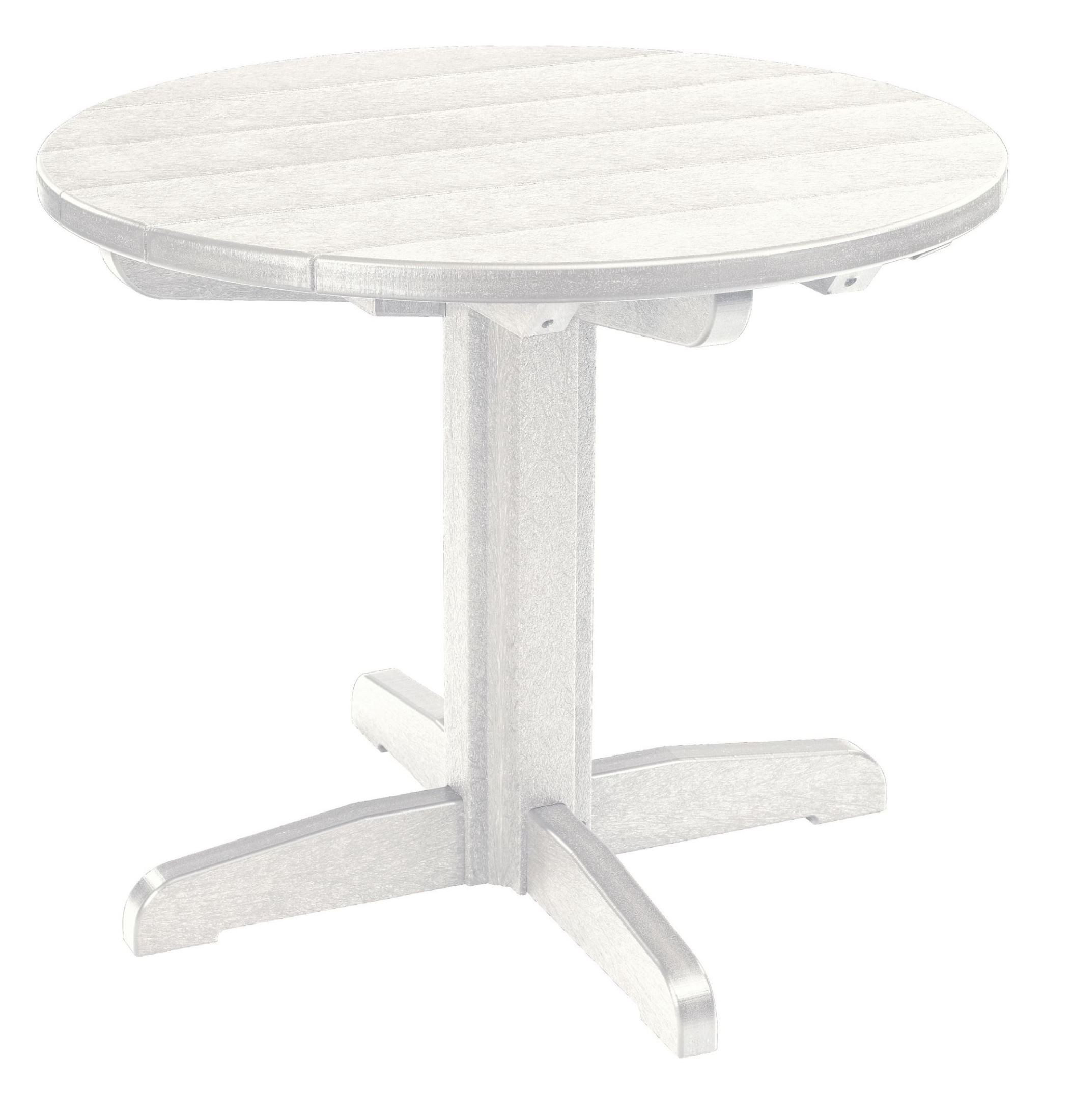 generations white 32 round pedestal dining table from cr plastic