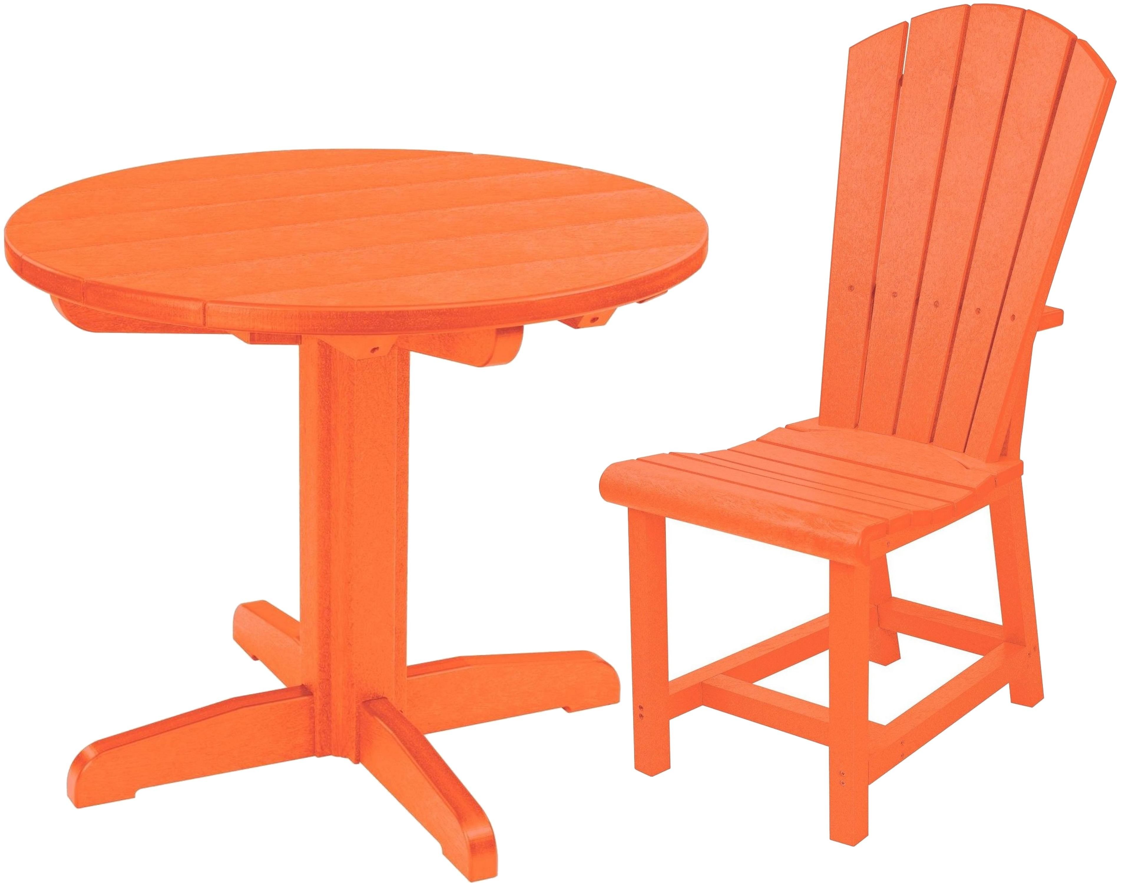 generations orange 32 quot round pedestal dining room set