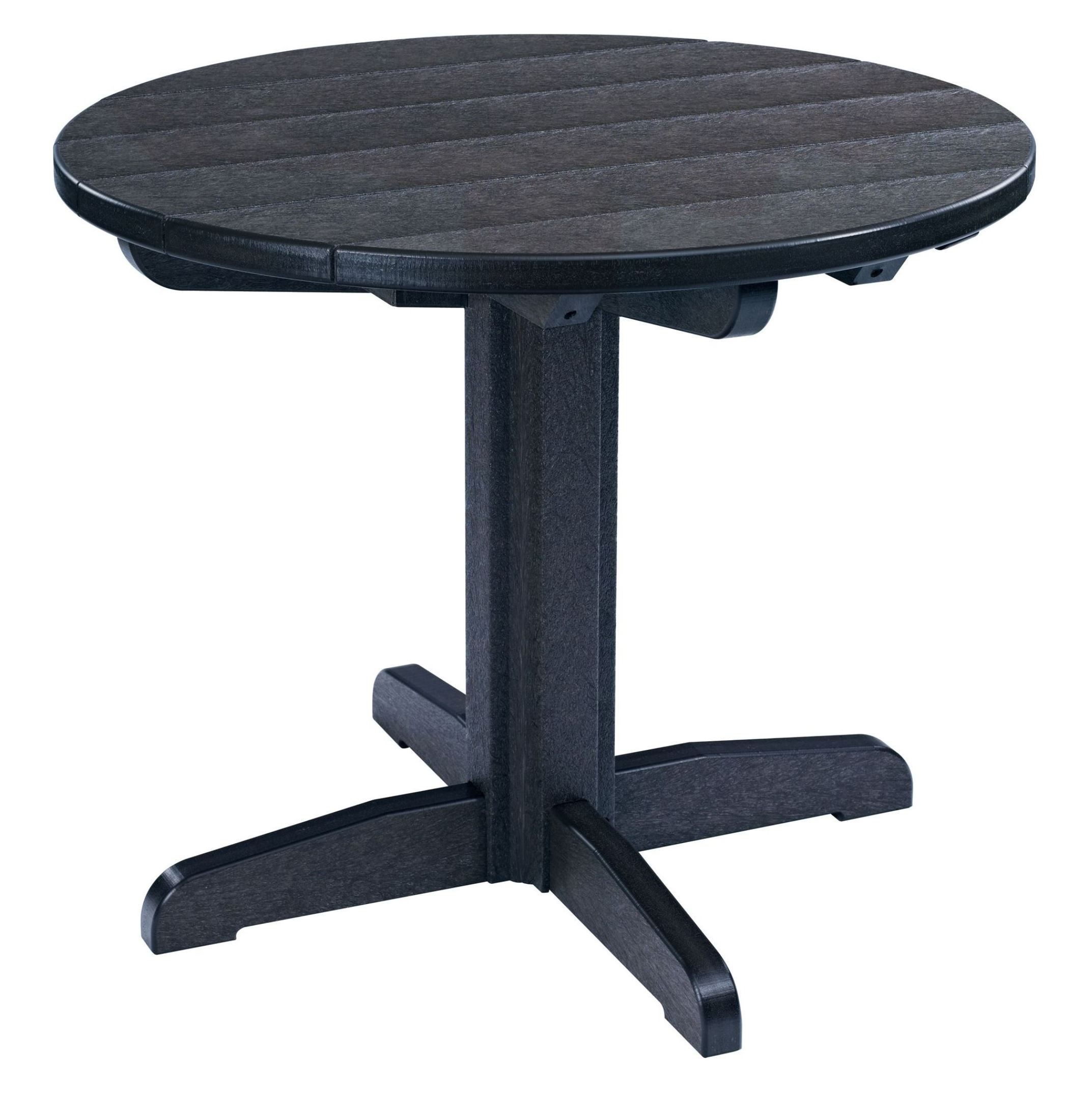 Generations Black 32 Round Pedestal Dining Table From CR Plastic