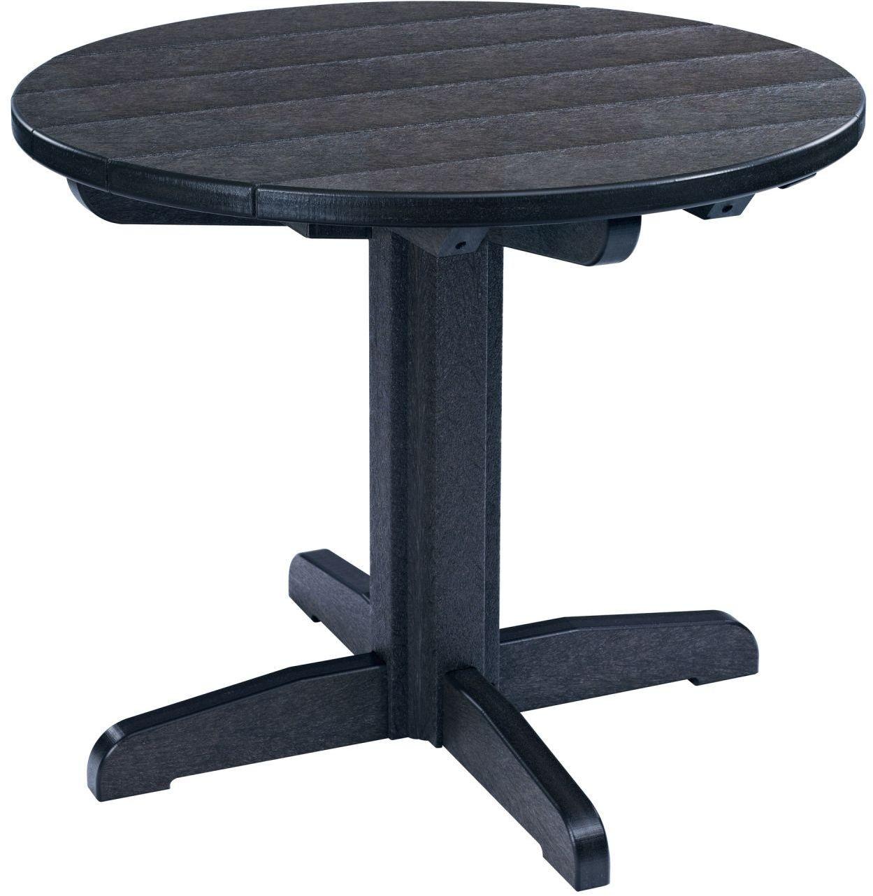 Generations Black 32 Round Pedestal Dining Table TT01