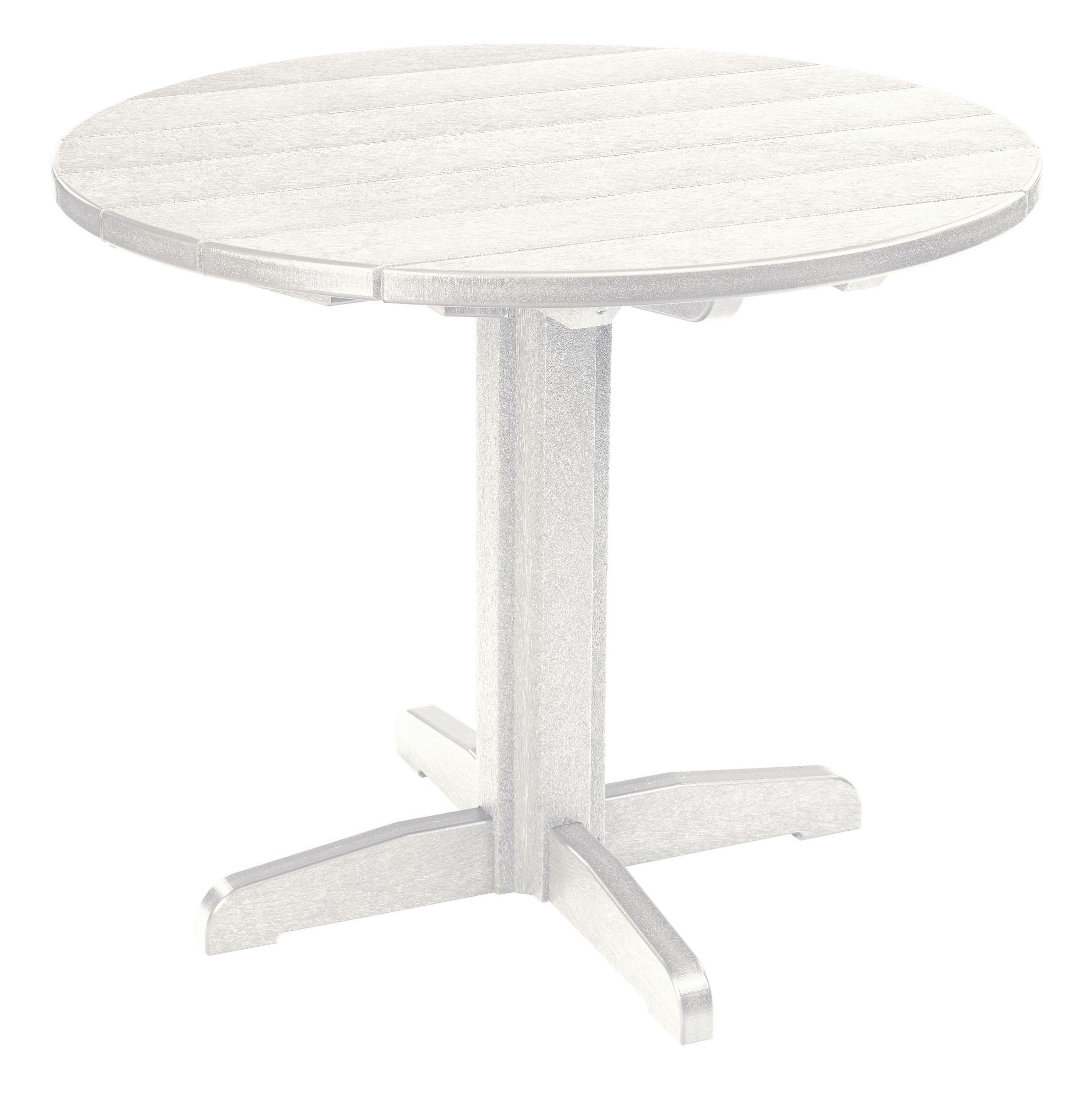 Generations White 37quot Round Pedestal Dining Table from CR  : tbt2202tt02tb1202 from colemanfurniture.com size 2187 x 2200 jpeg 407kB