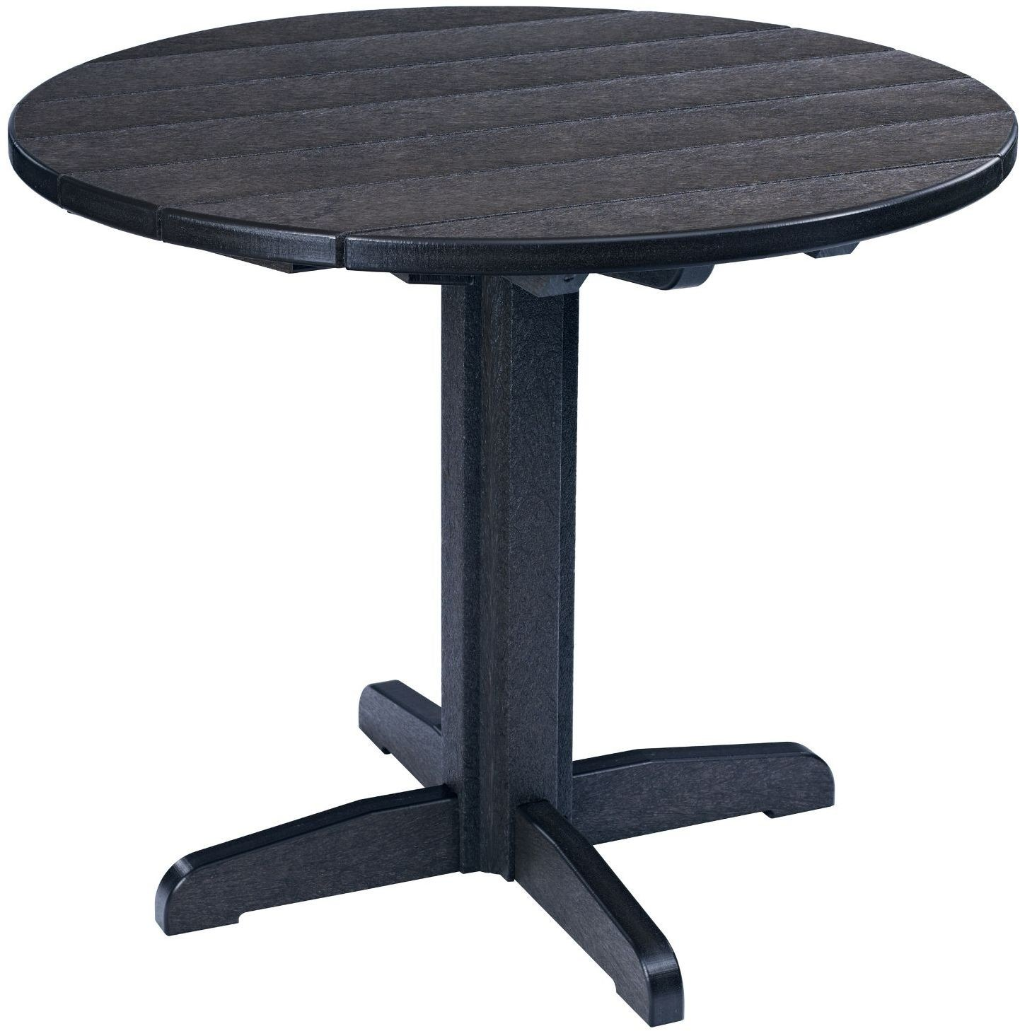 Generations Black 37 Round Pedestal Dining Table TT02 TB12 12 CR