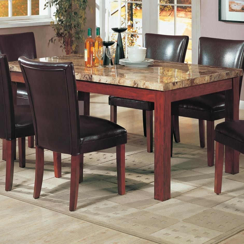 Telegraph rectangular dining table from coaster 120310 coleman furniture - Rectangular dining table for 6 ...