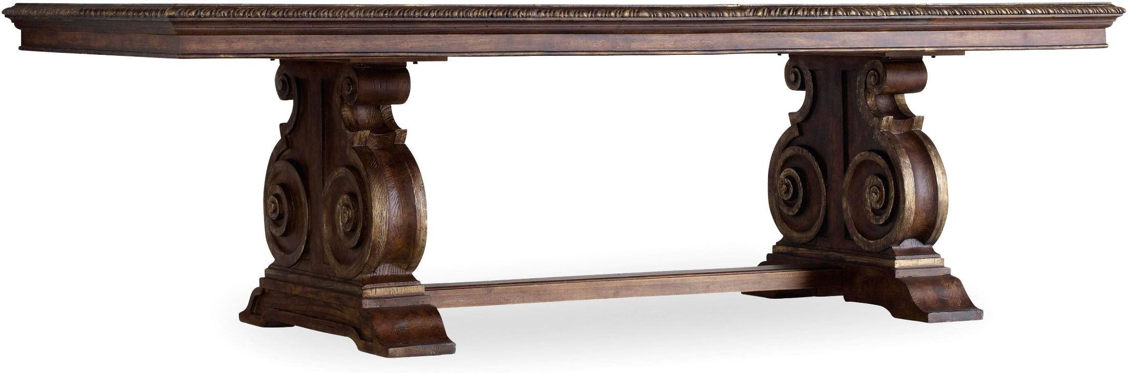 adagio dark wood rectangular dining table 5091 75207 hooker