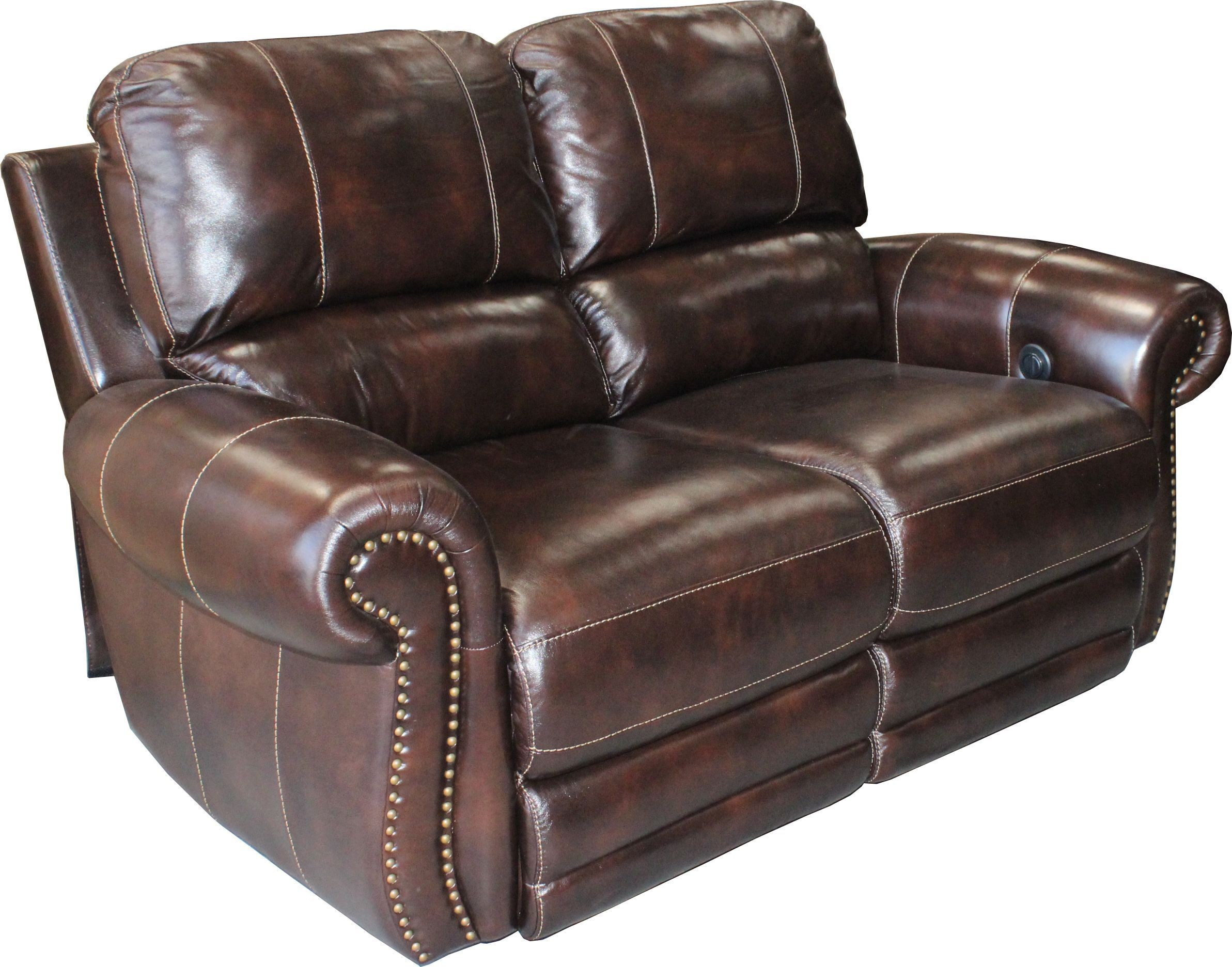 Thurston Shadow Dual Power Reclining Loveseat From Parker
