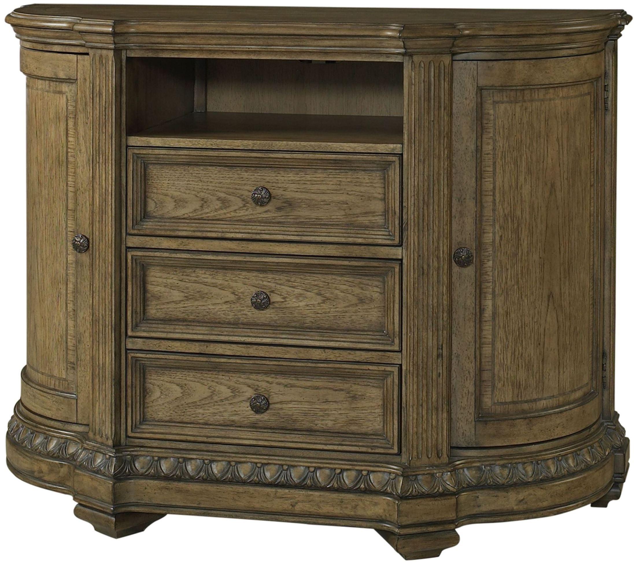 Touraine French Glazed Pecan Panel Bedroom Set S7154 13 14 08 Fairmont Designs
