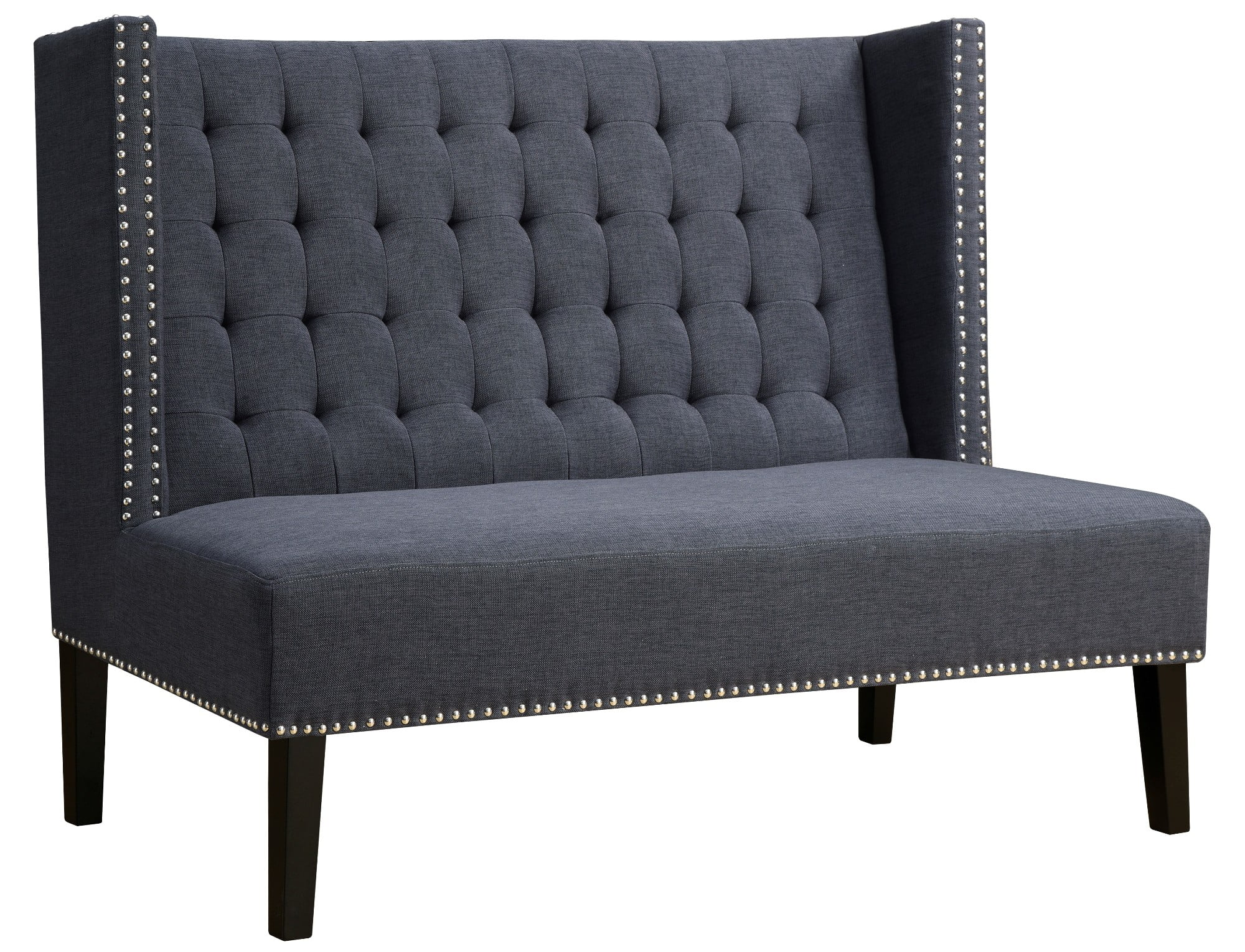 Halifax grey linen banquette bench from tov tov 63114 Banquette bench