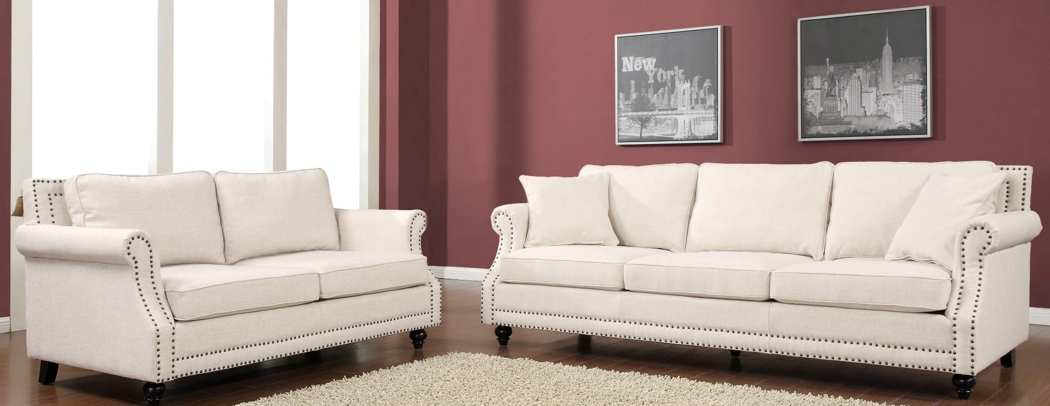 Camden Beige Linen Living Room Set From Tov Coleman