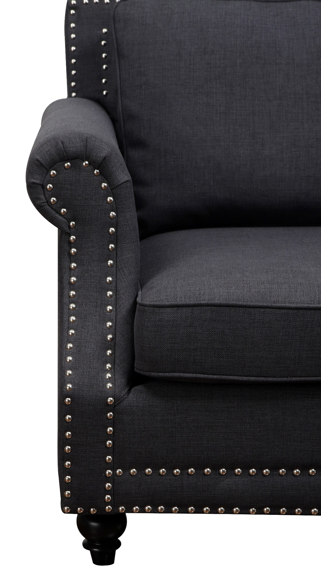 Camden Grey Linen Living Room Set From TOV Coleman Furniture
