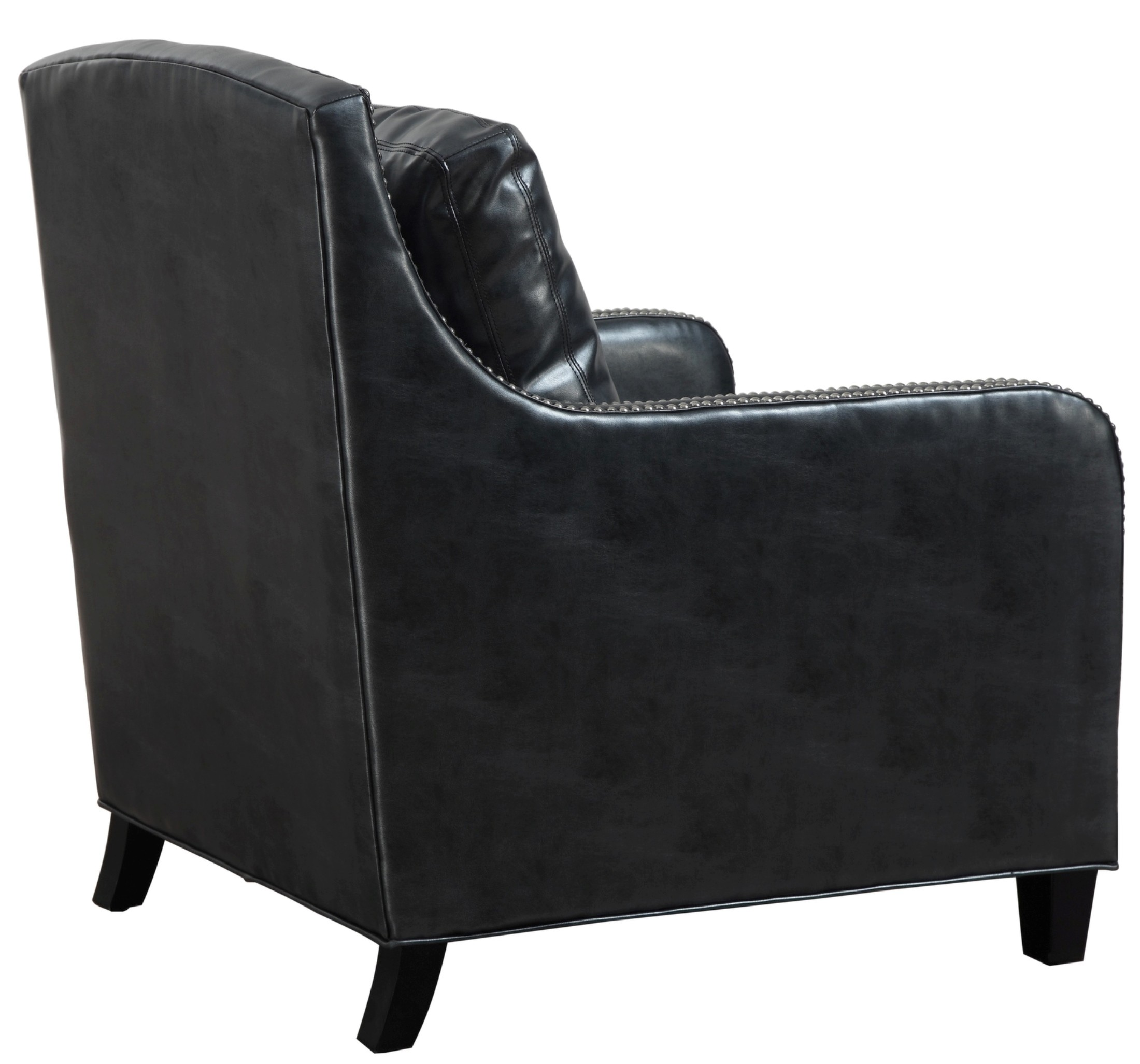 Greenwich Graphite Metallic Leather Club Chair From Tov