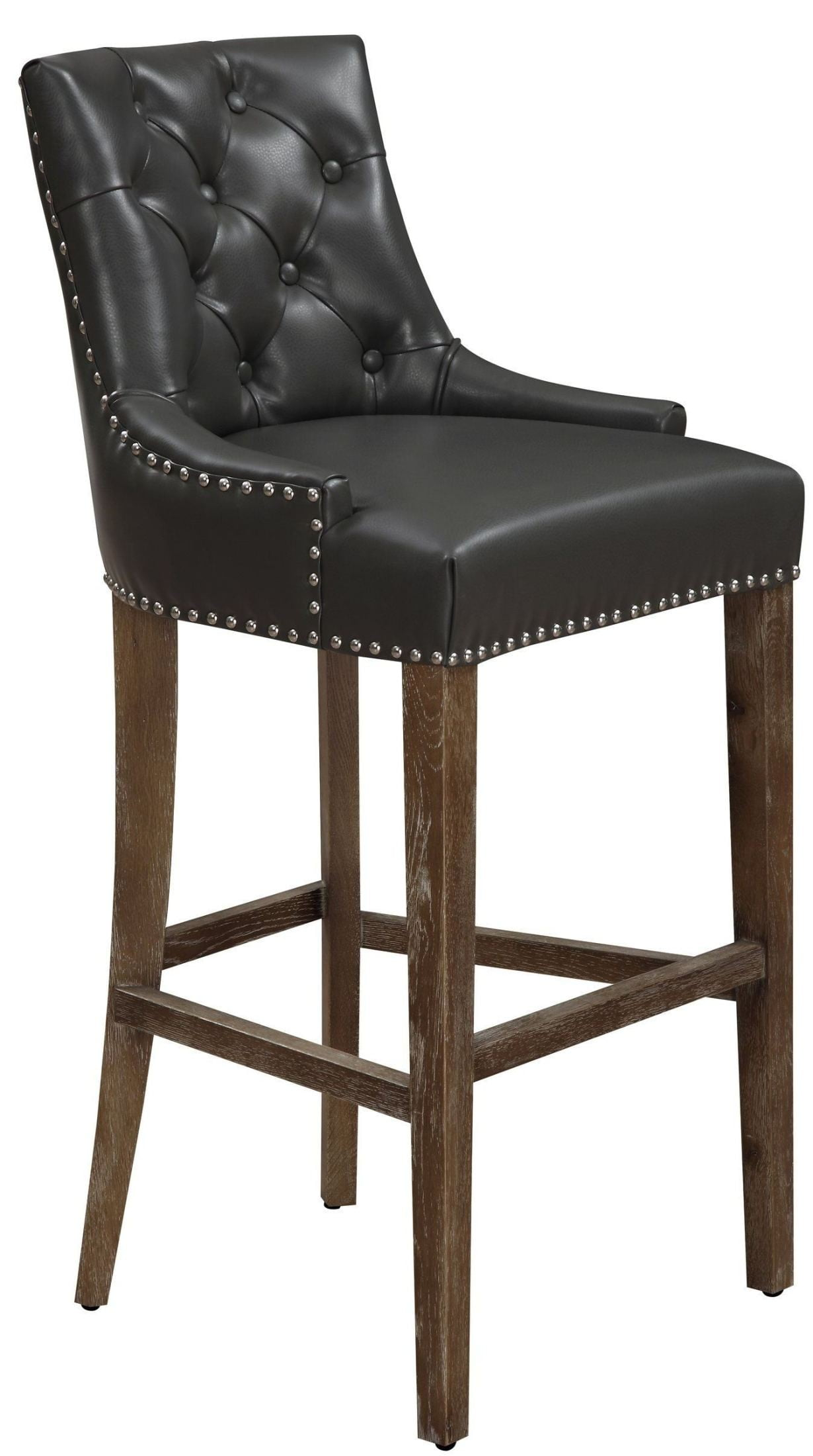 Uptown Grey Leather Counter Stool Bs16 Tov Furniture