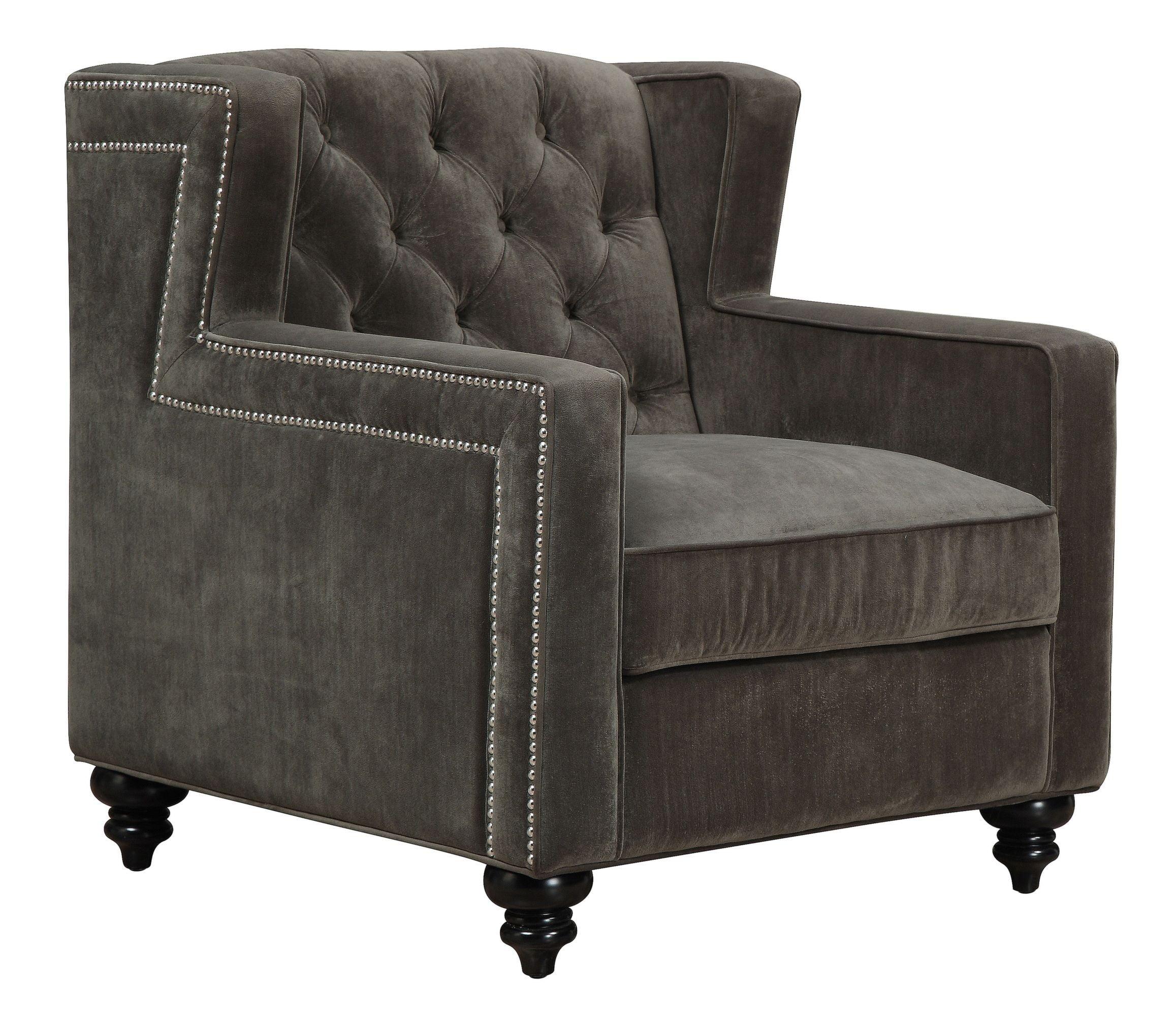 Sydney Pewter Velvet Chair From TOV C63 Coleman Furniture