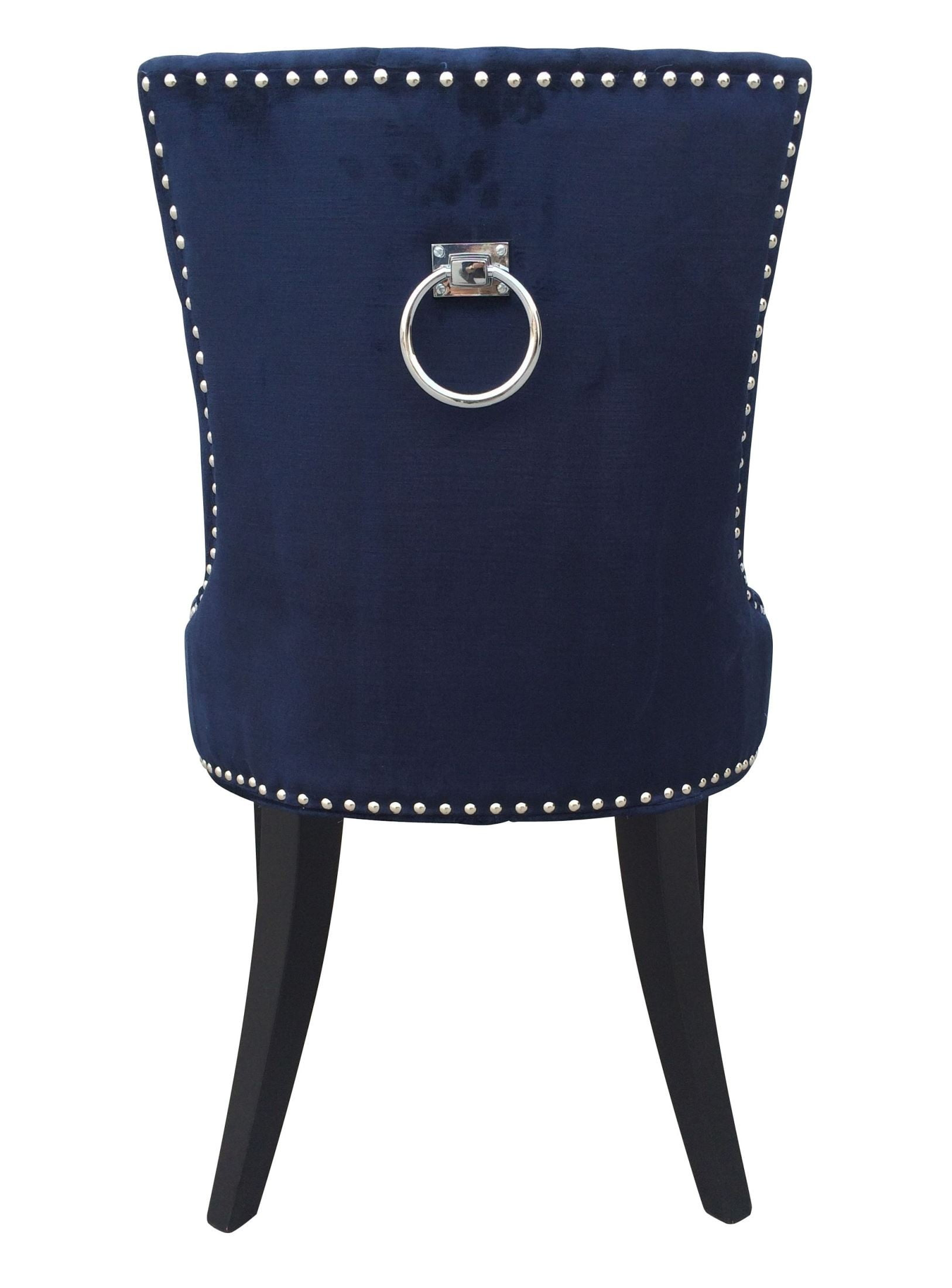 Uptown navy velvet dining chair set of 2 from tov d30 coleman furniture